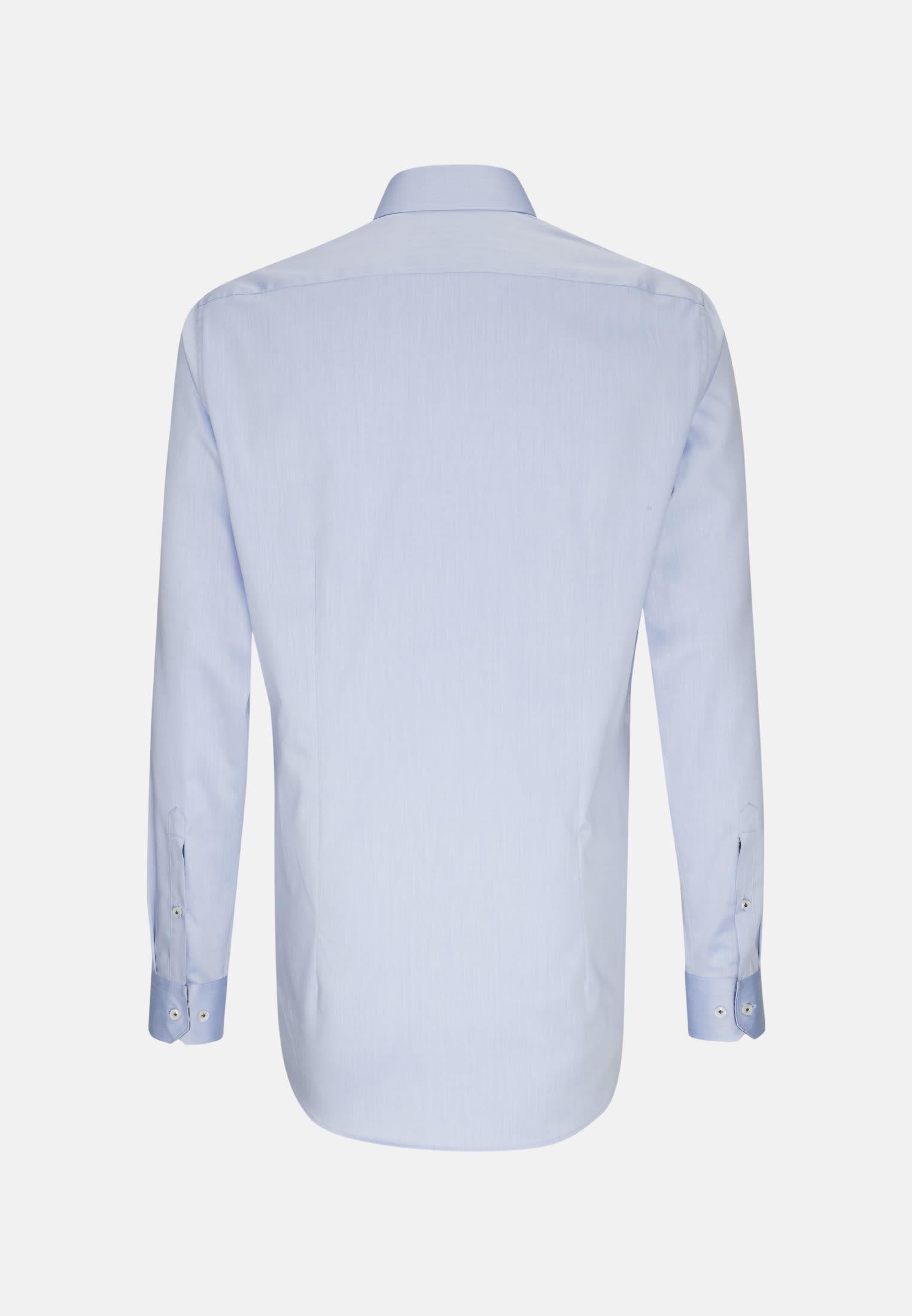 Twill Business Hemd in Custom Fit mit Kentkragen und extra langem Arm in Hellblau |  Jacques Britt Onlineshop