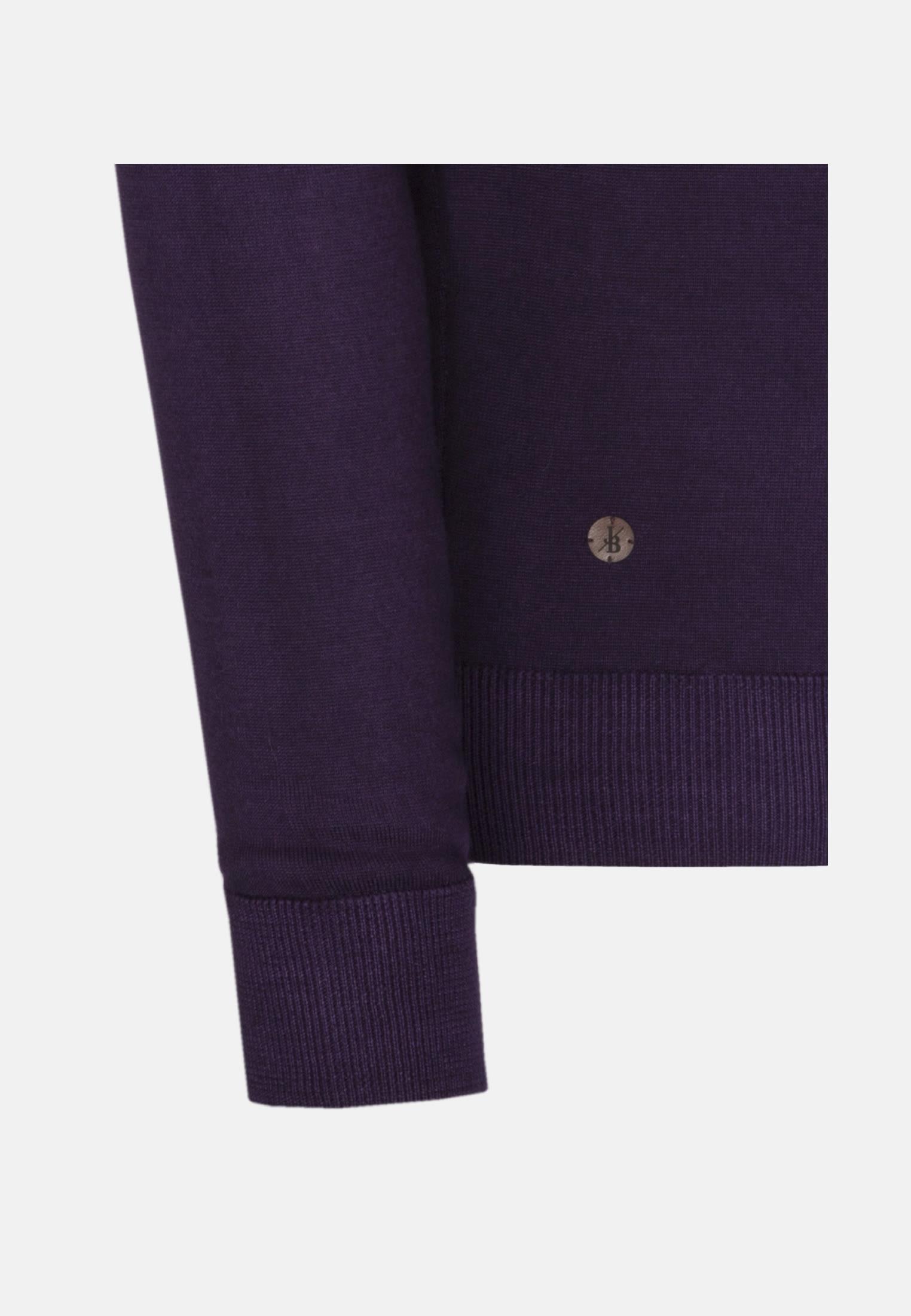 Rundhals Pullover aus 100% Merinowolle in Lila |  Jacques Britt Onlineshop