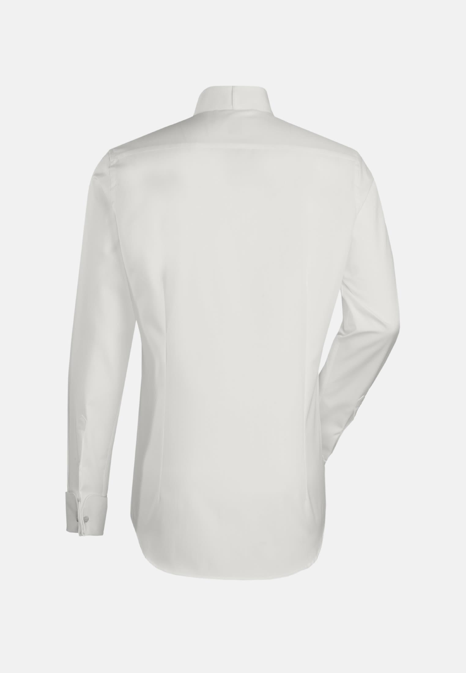 Popeline Smokinghemd in Slim Fit mit Kläppchenkragen in Ecru    Jacques Britt Onlineshop