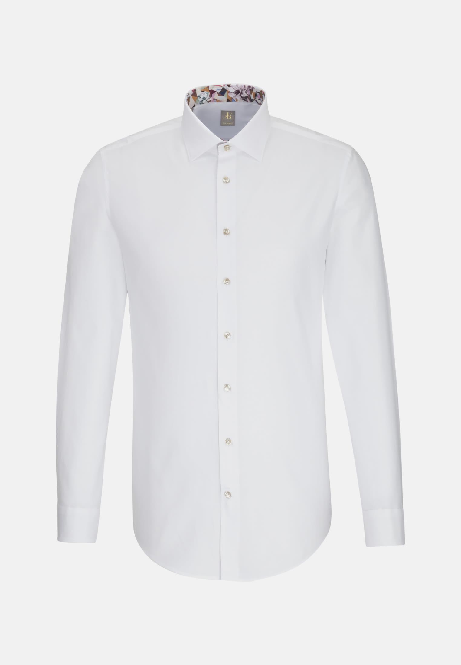 Oxford Business Hemd in Custom Fit mit Kentkragen in Weiß |  Jacques Britt Onlineshop