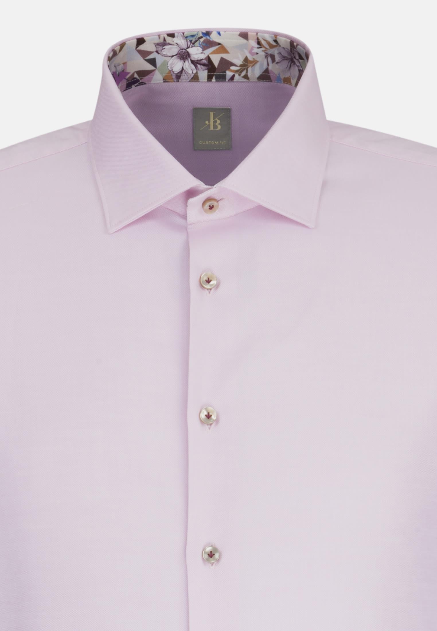 Oxford Business Hemd in Custom Fit mit Kentkragen und extra langem Arm in Rosa/Pink |  Jacques Britt Onlineshop