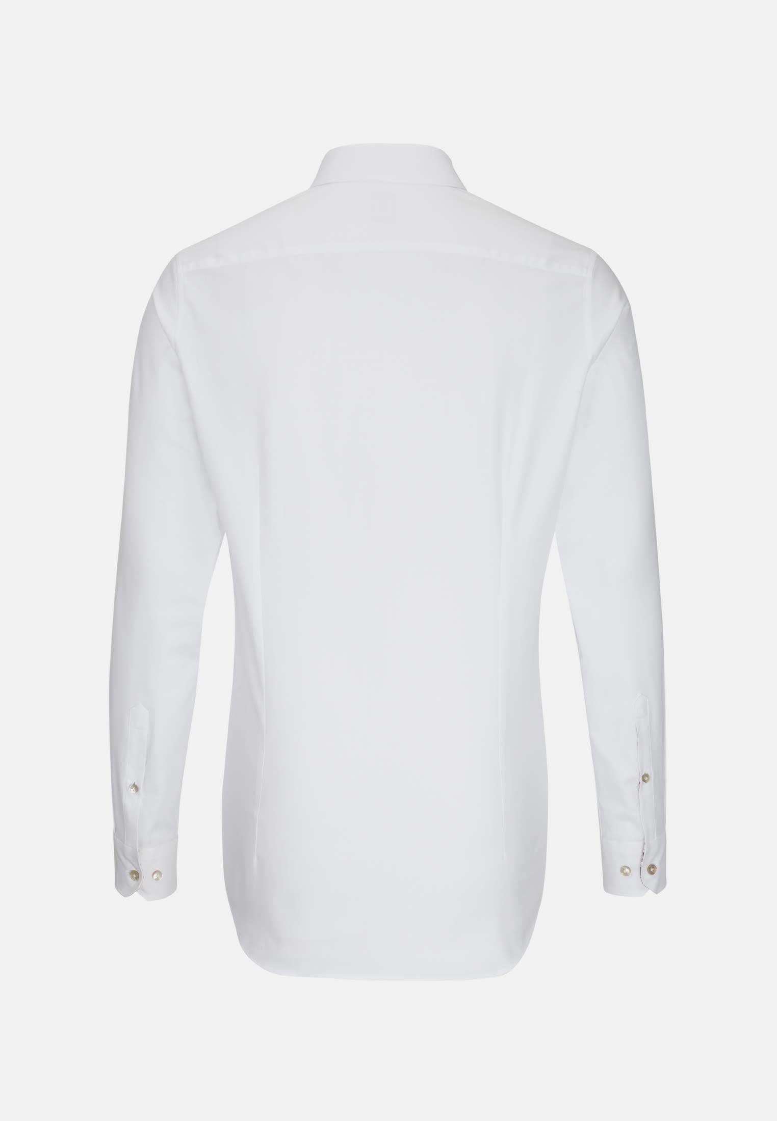 Oxford Business Hemd in Custom Fit mit Kentkragen und extra langem Arm in Weiß    Jacques Britt Onlineshop