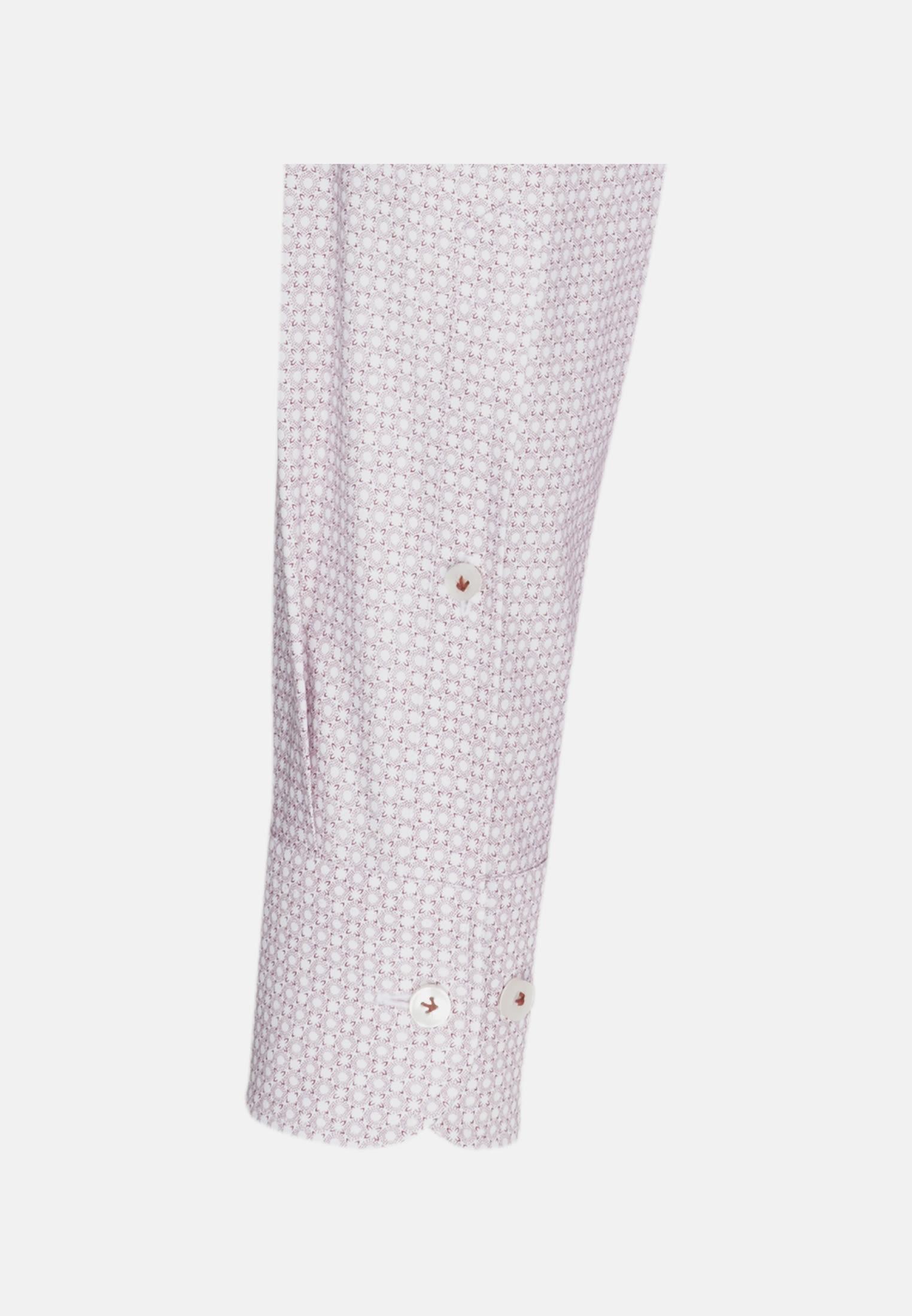 Popeline Business Hemd in Custom Fit mit Kentkragen und extra langem Arm in Rot |  Jacques Britt Onlineshop
