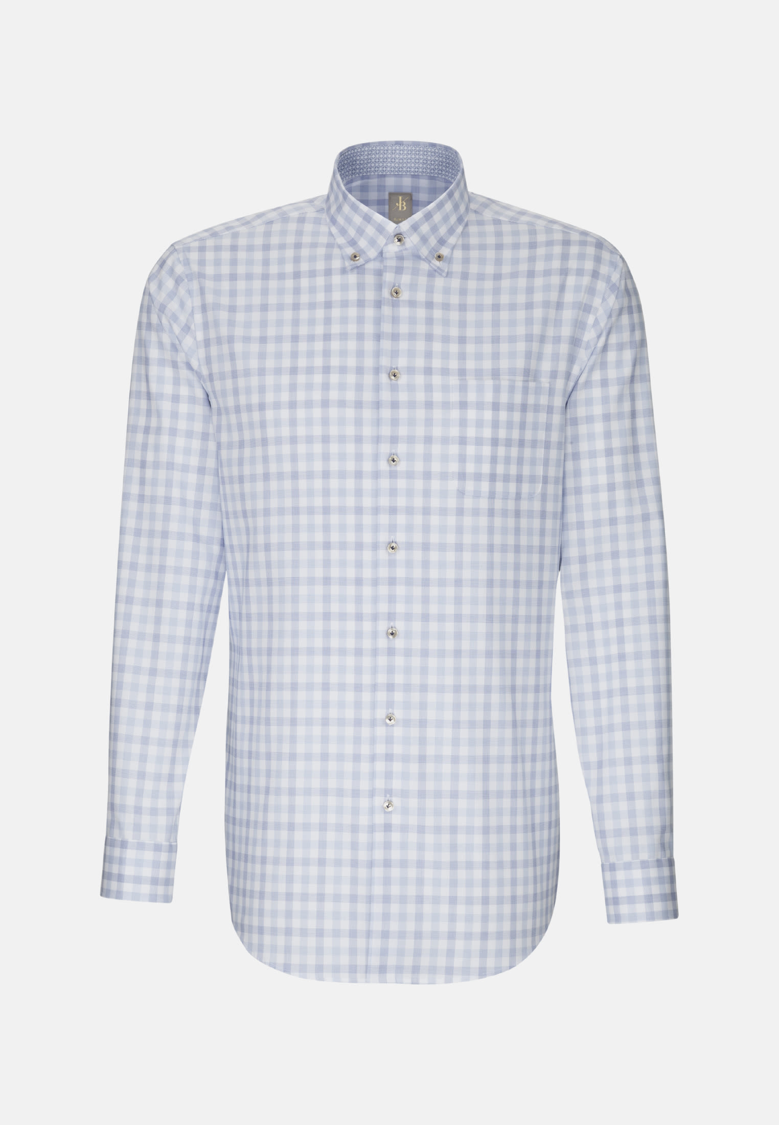 Oxford Business Hemd in Slim Fit mit Button-Down-Kragen in Mittelblau |  Jacques Britt Onlineshop