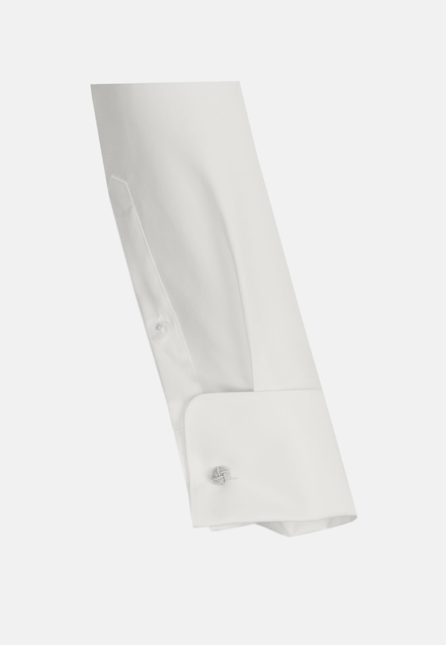 Popeline Smokinghemd in Slim Fit mit Kentkragen in Ecru |  Jacques Britt Onlineshop
