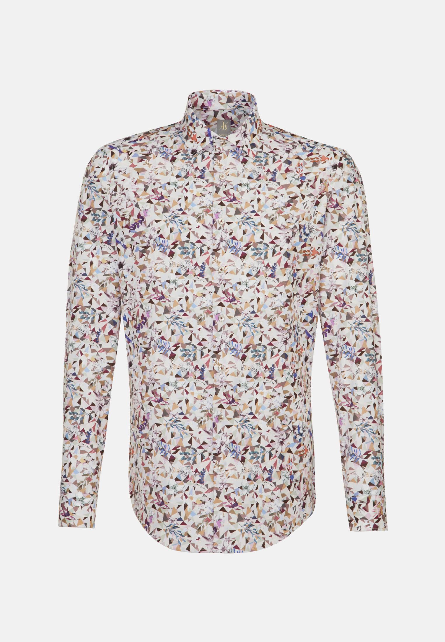 Popeline Business Hemd in Custom Fit mit Kentkragen in Rosa/Pink    Jacques Britt Onlineshop