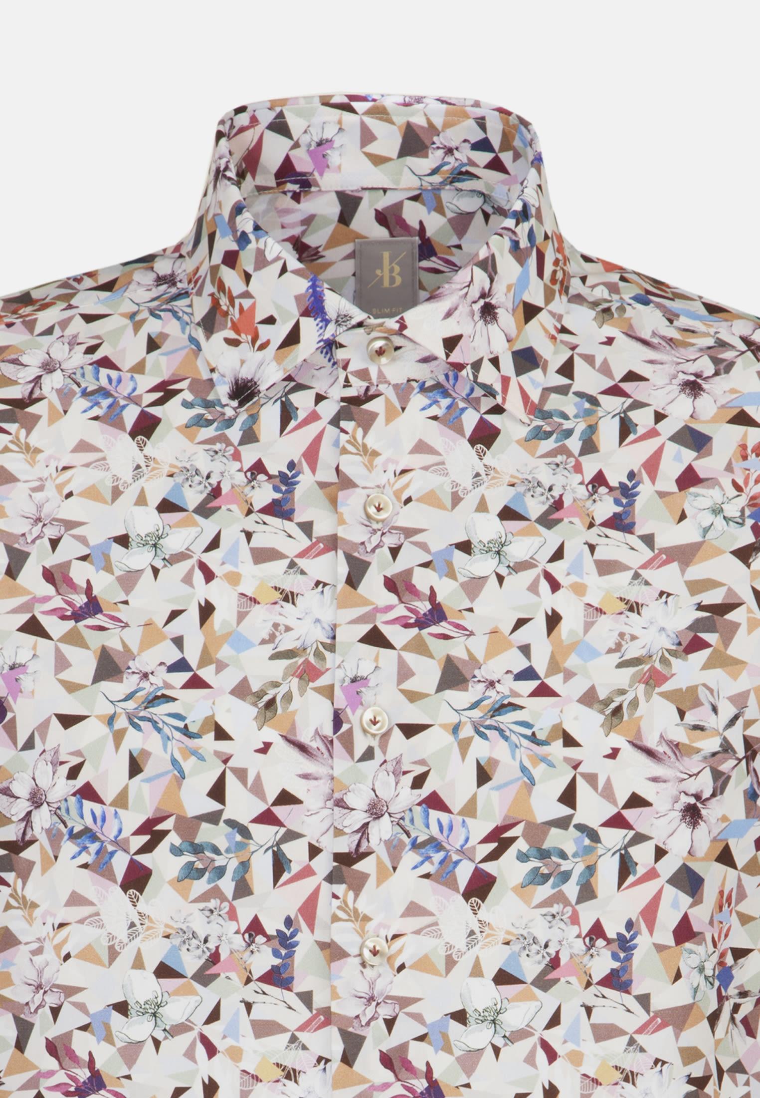 Popeline Business Hemd in Slim Fit mit Kentkragen in Rosa/Pink |  Jacques Britt Onlineshop