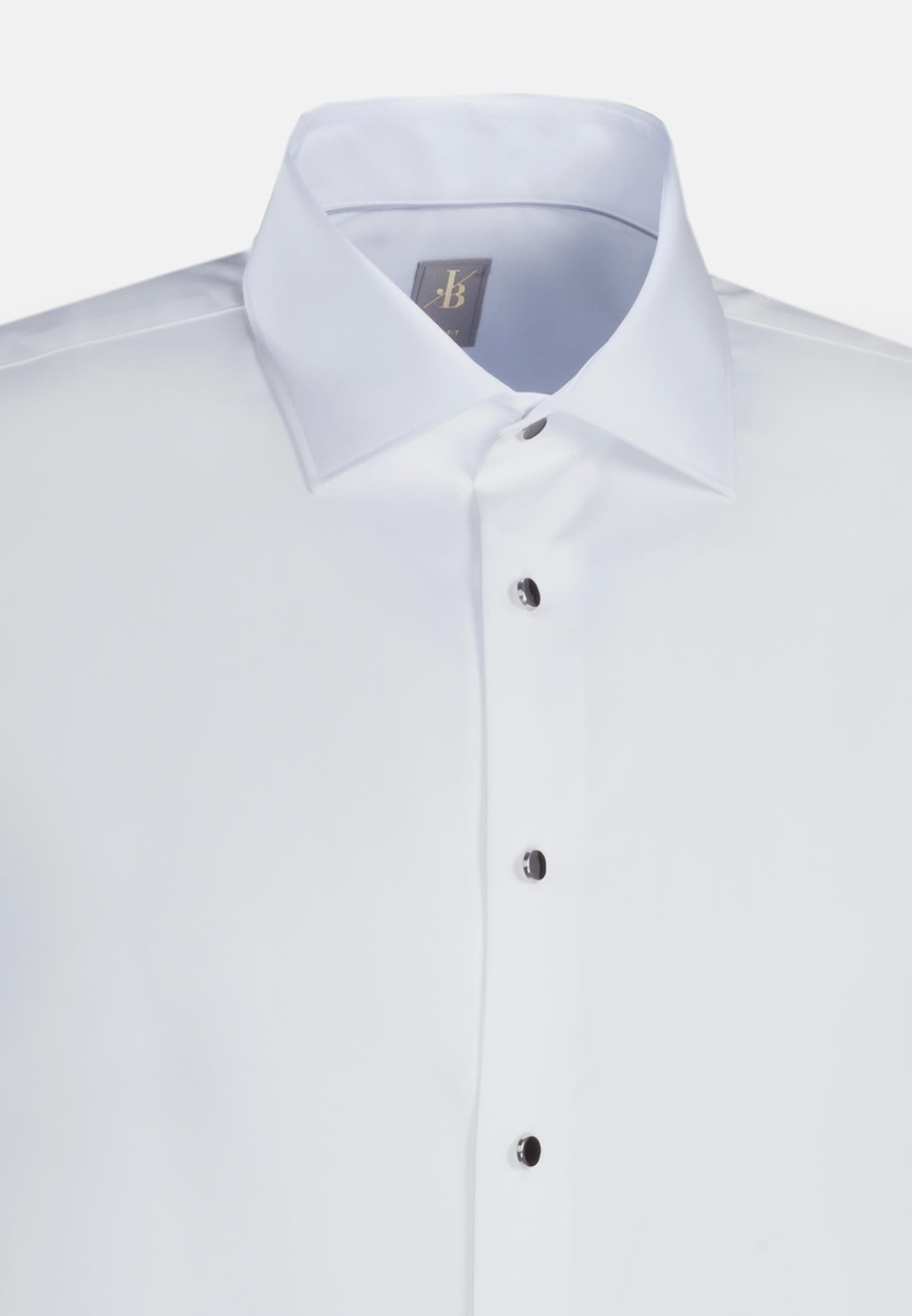 Popeline Smokinghemd in Slim Fit mit Kentkragen in Weiß |  Jacques Britt Onlineshop