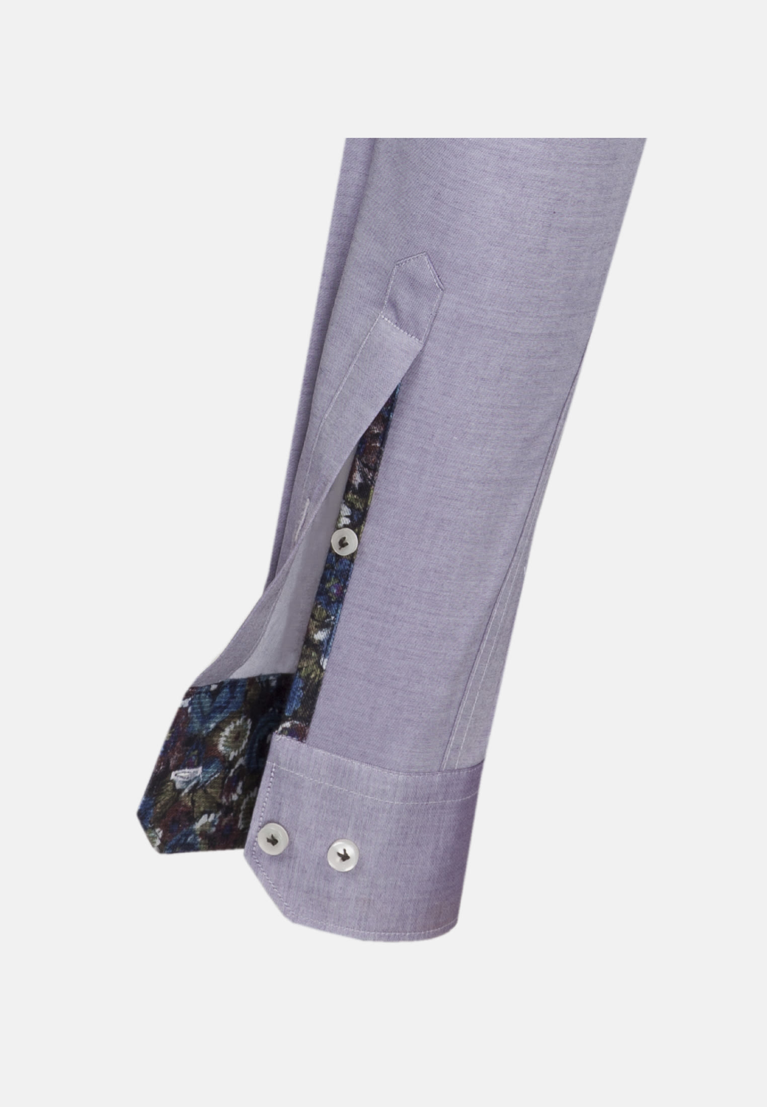 Twill Business Hemd in Custom Fit mit Kentkragen in Lila |  Jacques Britt Onlineshop