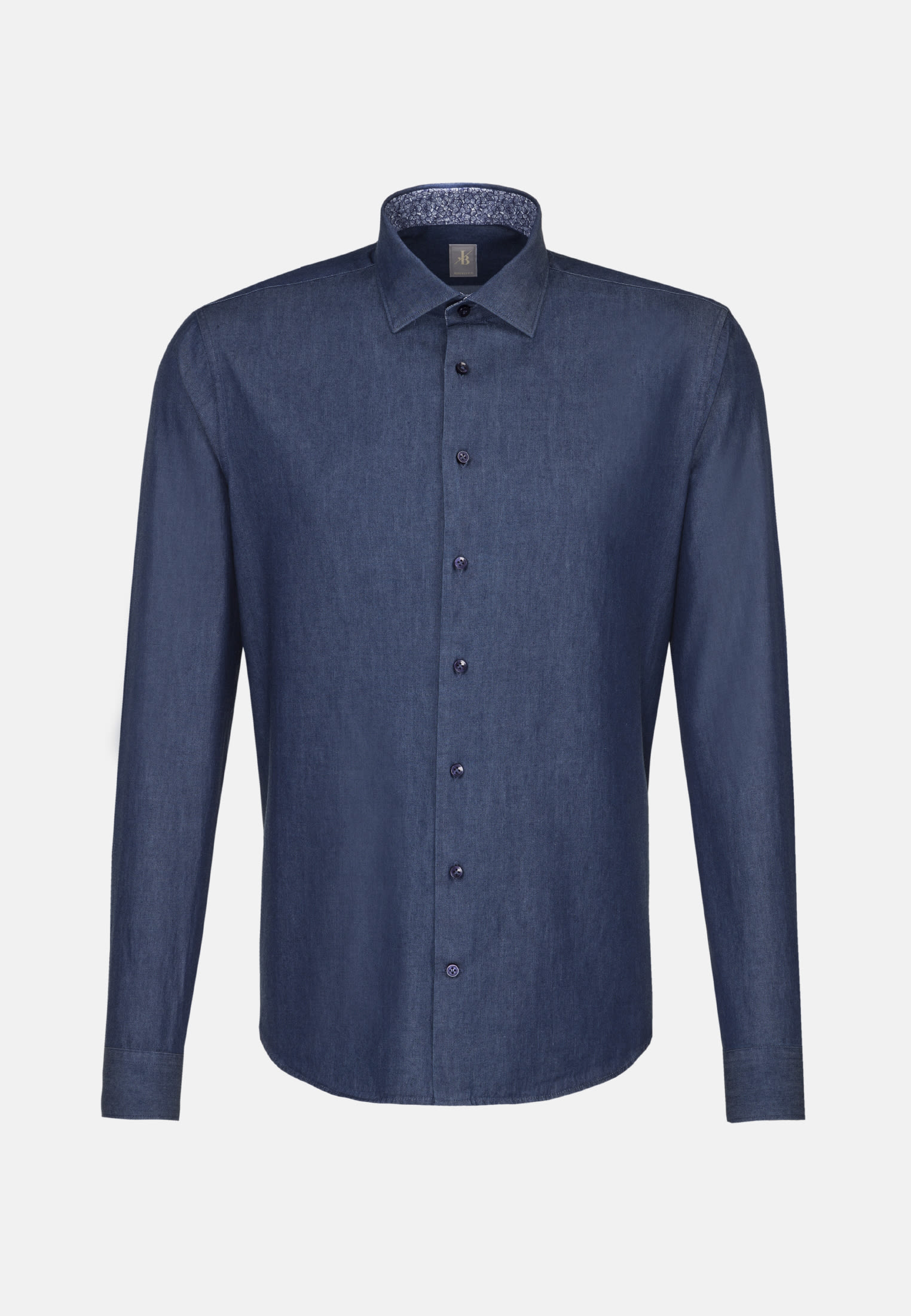 Denim Smart Casual Hemd in Perfect Fit mit Kentkragen in Dunkelblau |  Jacques Britt Onlineshop