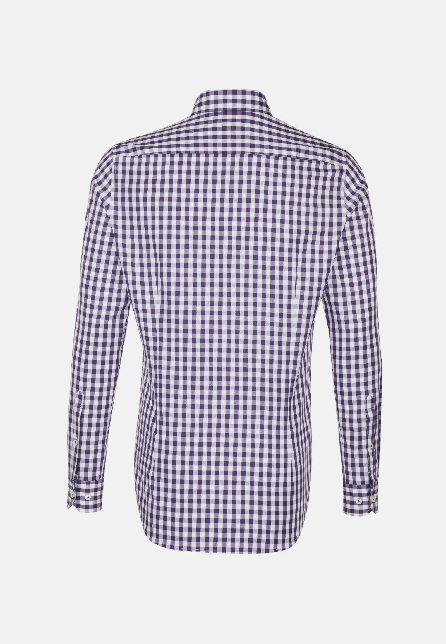 Twill Business Hemd in Slim Fit mit Button-Down-Kragen in Lila    Jacques Britt Onlineshop