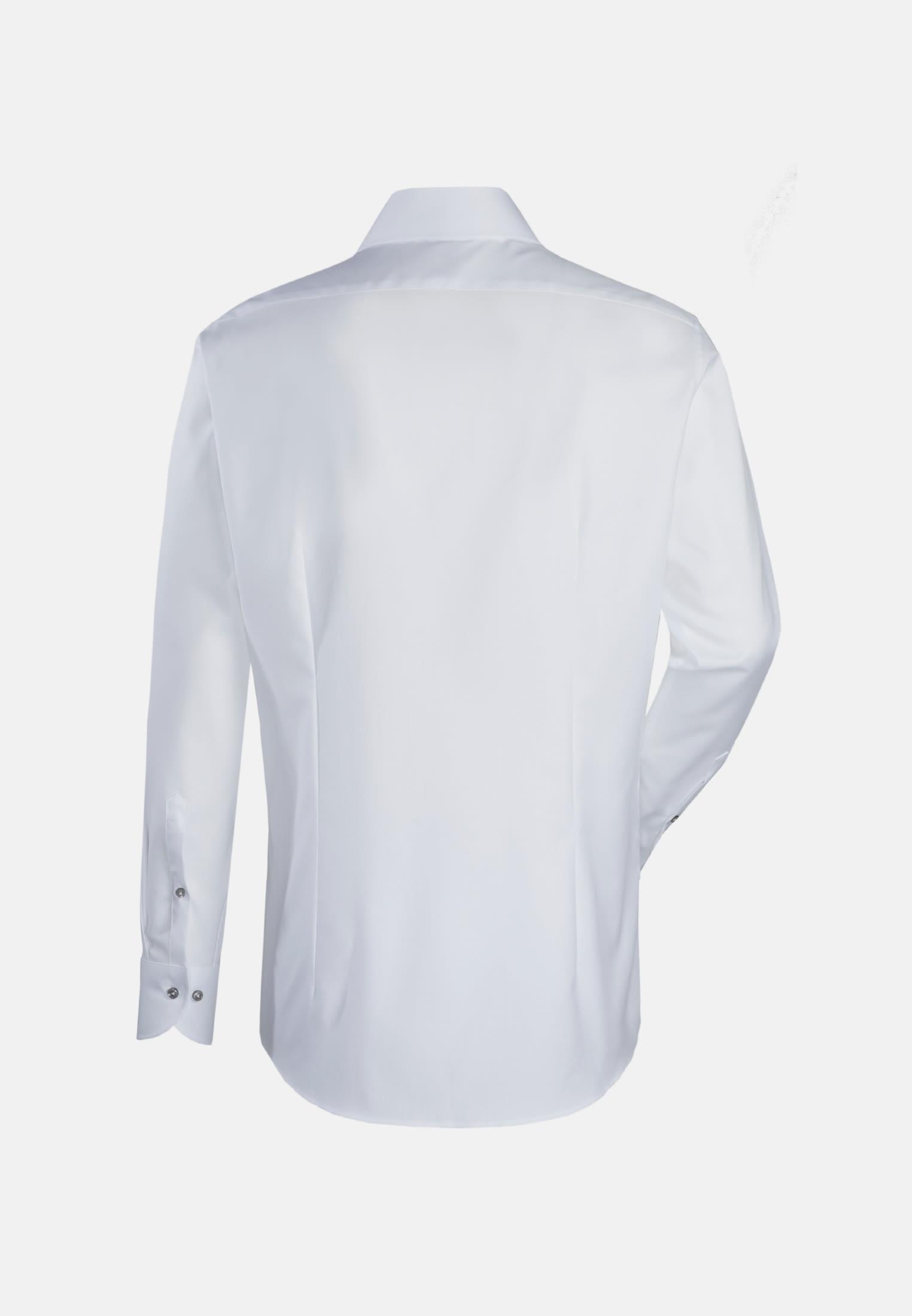 Struktur Business Hemd in Slim Fit mit Haifischkragen in Weiß    Jacques Britt Onlineshop