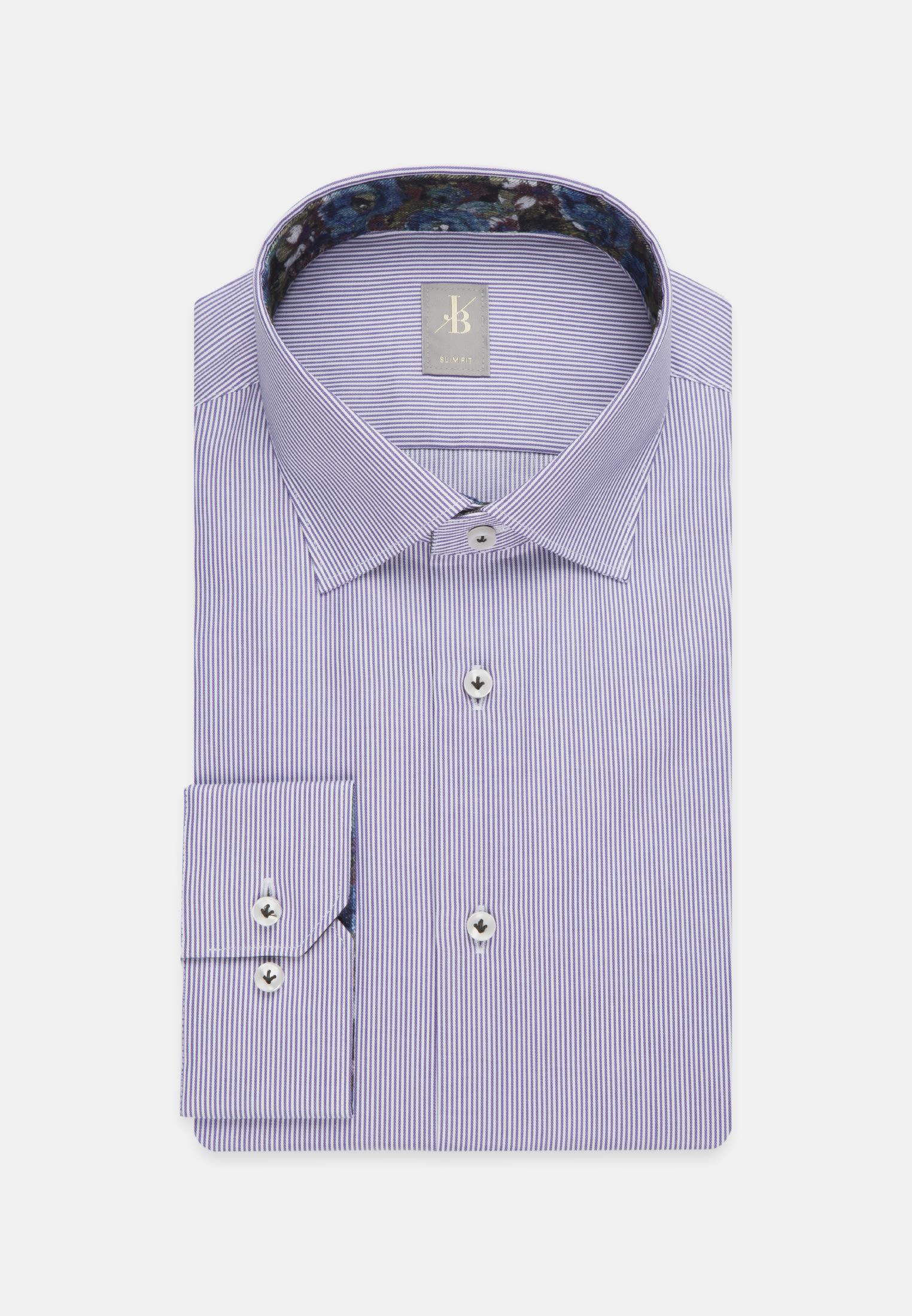 Twill Business Hemd in Slim Fit mit Kentkragen in Lila    Jacques Britt Onlineshop