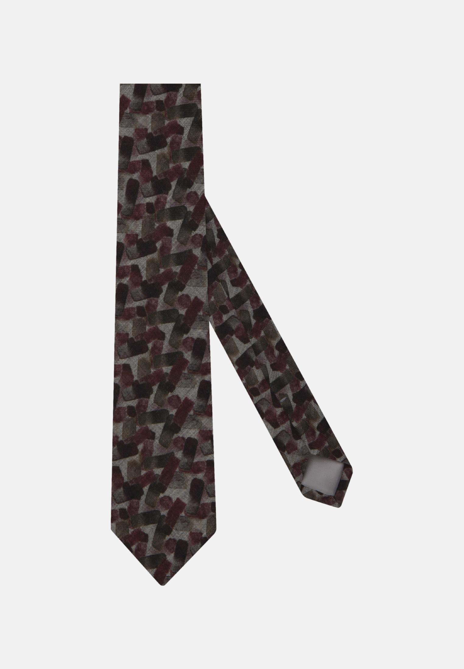 Krawatte aus 100% Wolle 7 cm Breit in Rot |  Jacques Britt Onlineshop