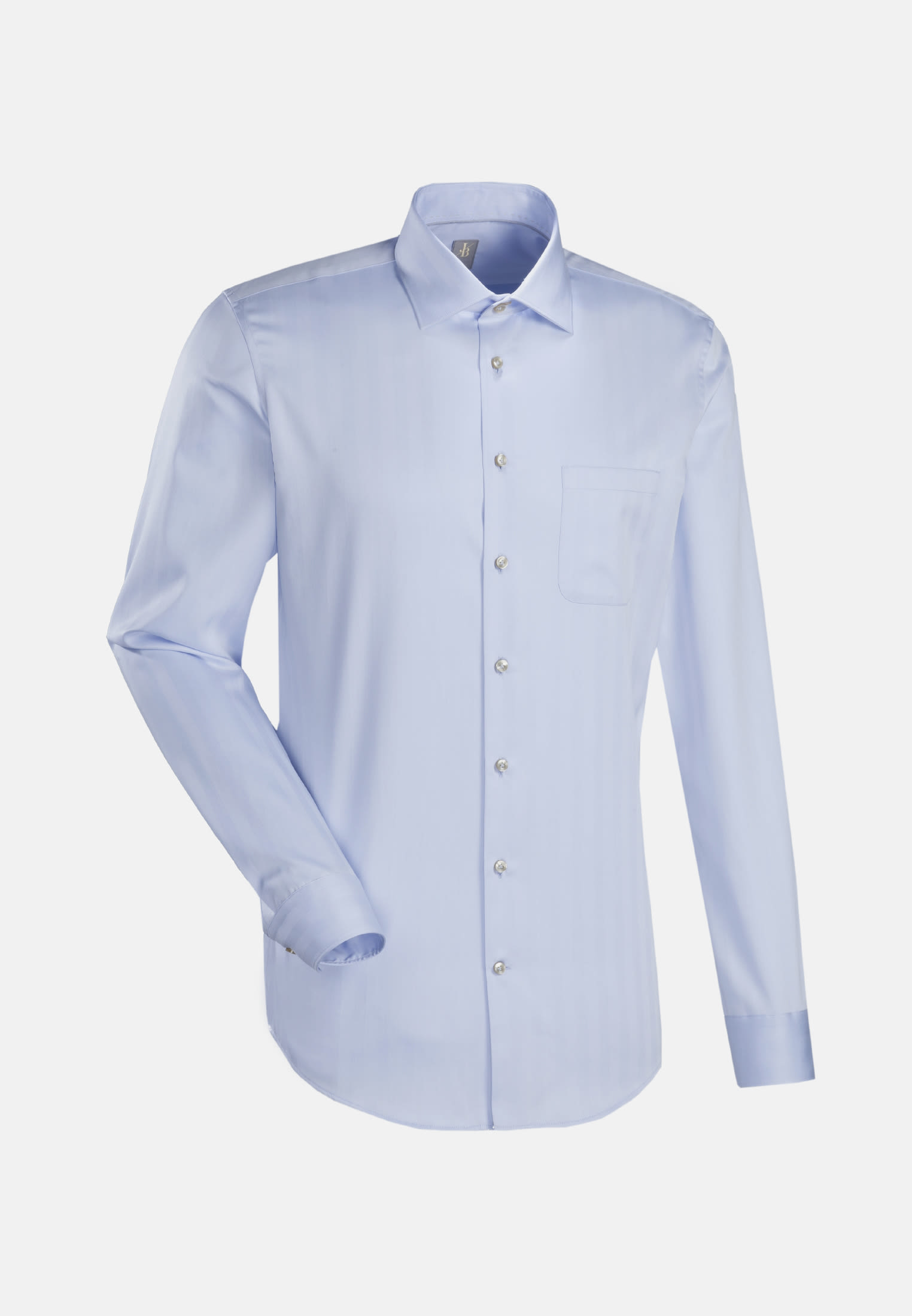 Fischgrat Business Hemd in Slim Fit mit Kentkragen in Hellblau |  Jacques Britt Onlineshop