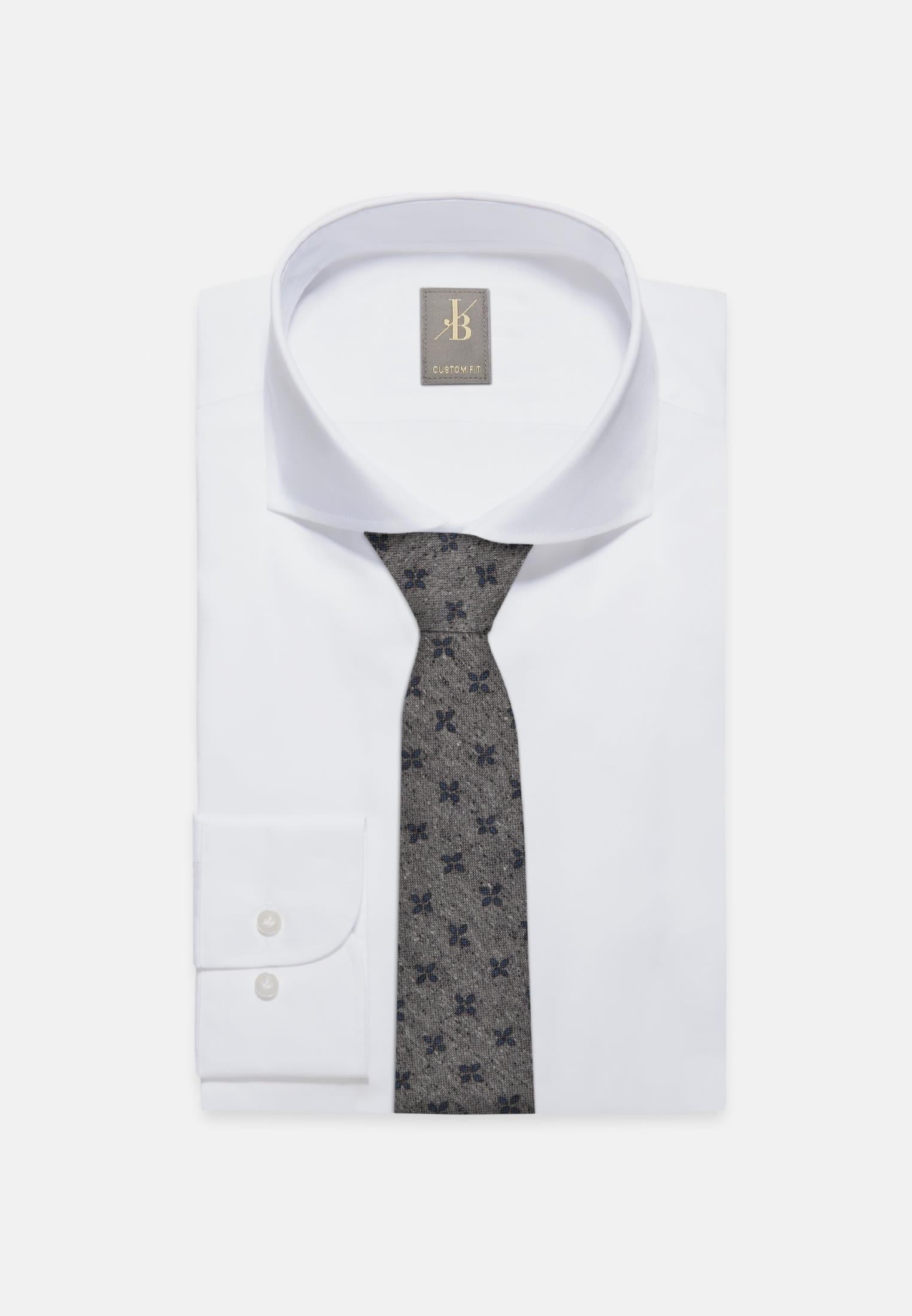 Krawatte aus Seidenmischung 7 cm Breit in Grau |  Jacques Britt Onlineshop