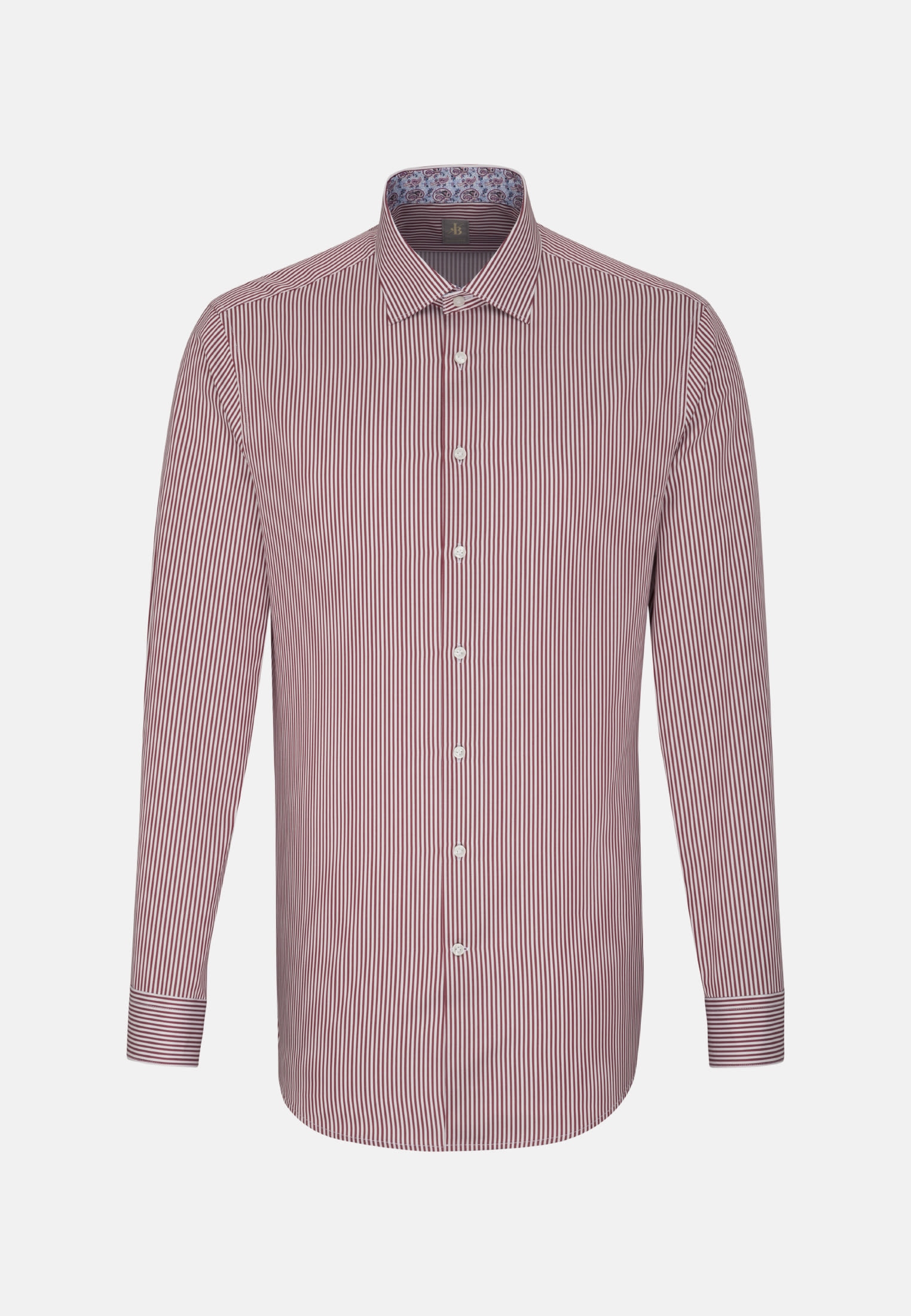 Satin Business Hemd in Custom Fit mit Kentkragen in Rot |  Jacques Britt Onlineshop