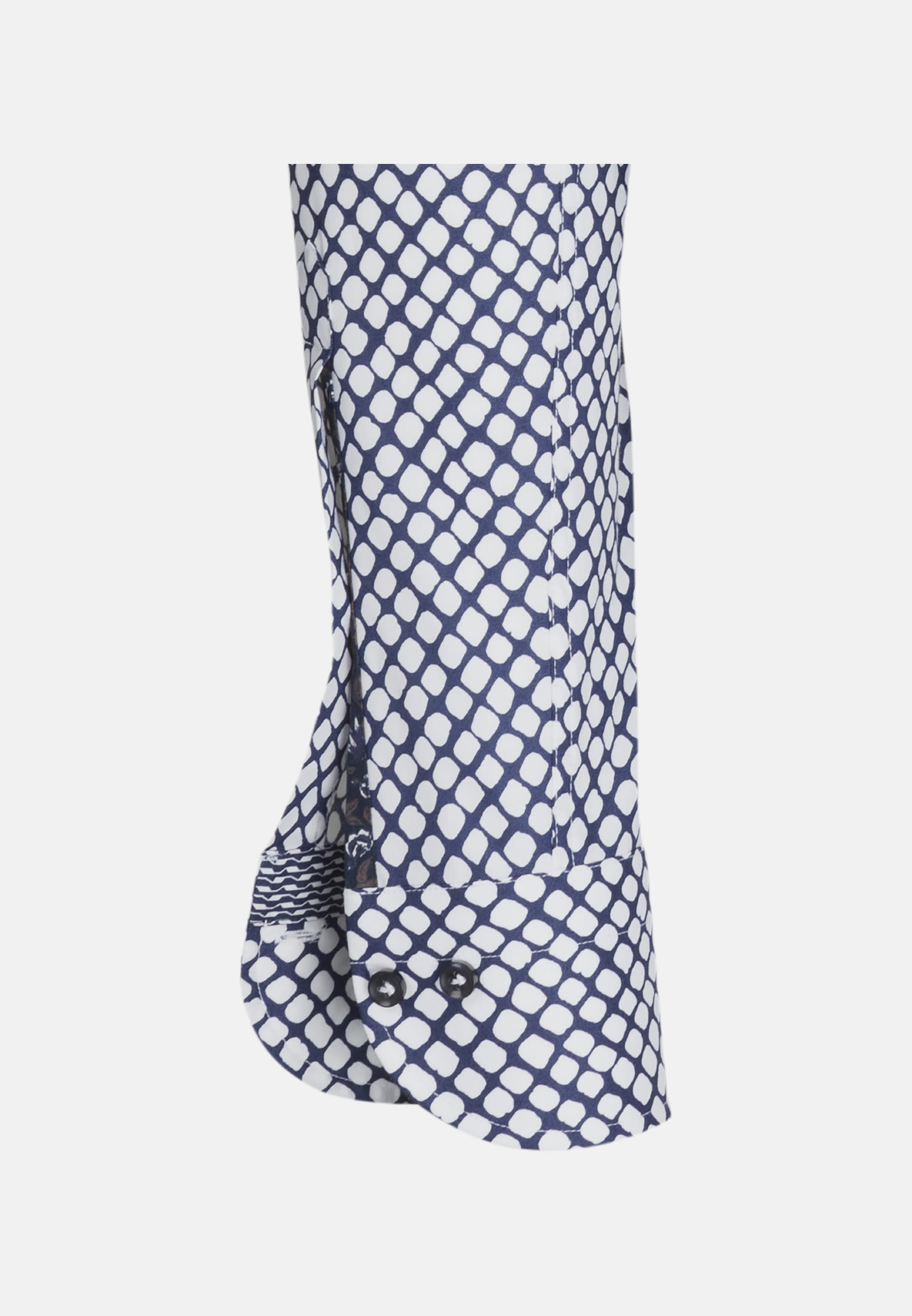 Popeline Business Hemd in Custom Fit mit Haifischkragen und extra langem Arm in Mittelblau |  Jacques Britt Onlineshop