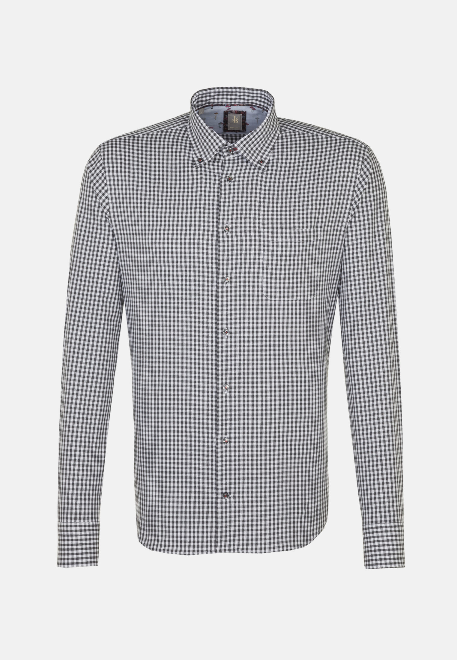 Melange Garne Smart Casual Hemd in Perfect Fit mit Button-Down-Kragen in Grau    Jacques Britt Onlineshop