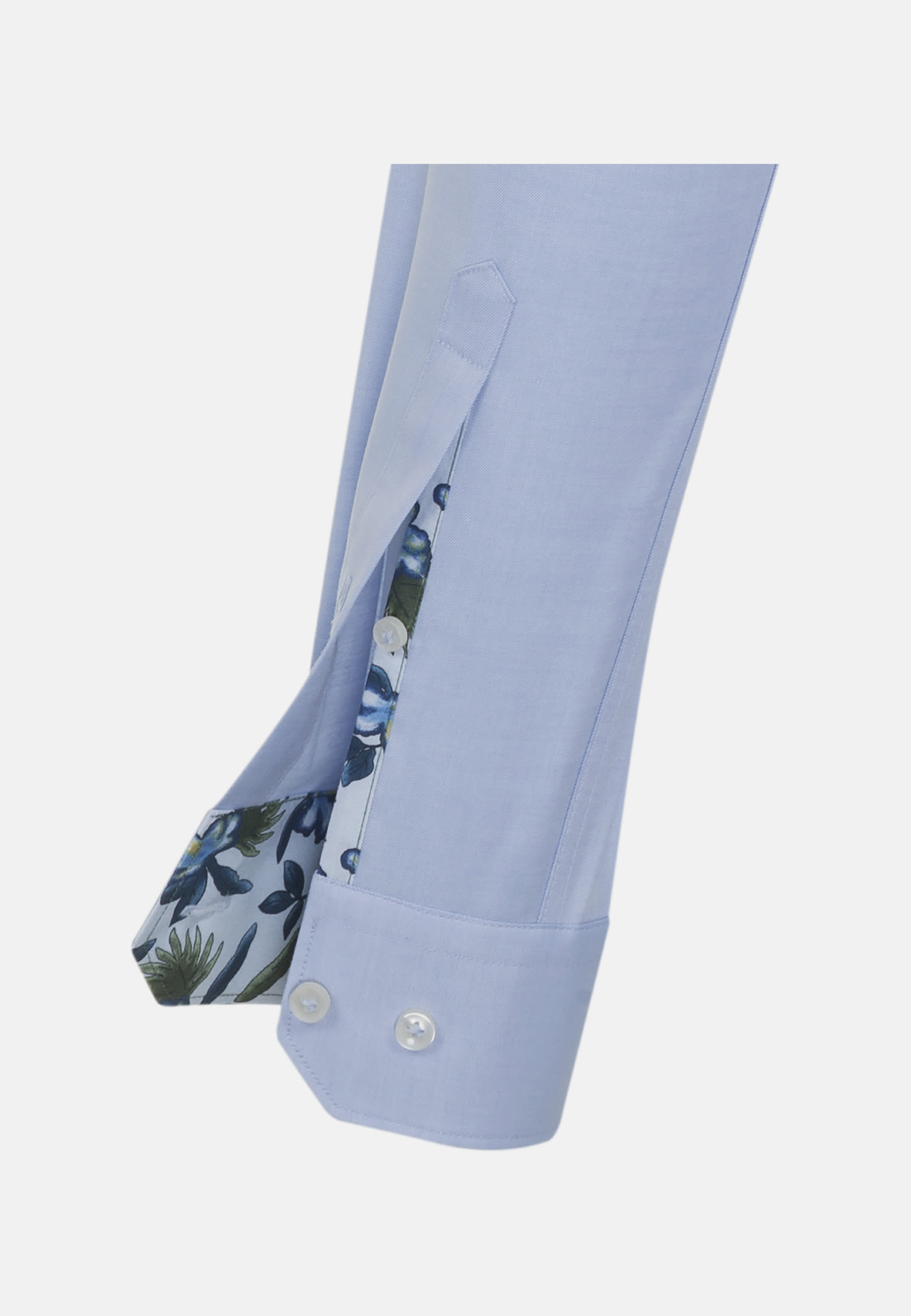 Twill Business Hemd in Slim Fit mit Kentkragen in Hellblau |  Jacques Britt Onlineshop