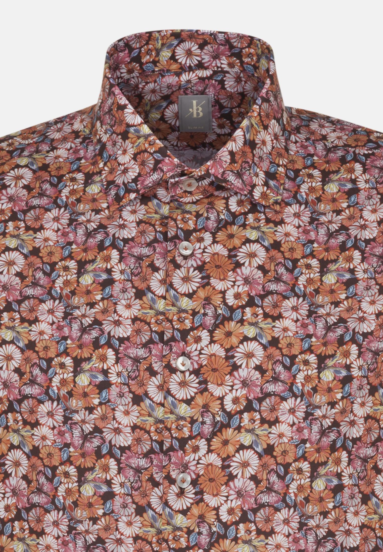 Popeline Business Hemd in Slim Fit mit Kentkragen in Rot |  Jacques Britt Onlineshop