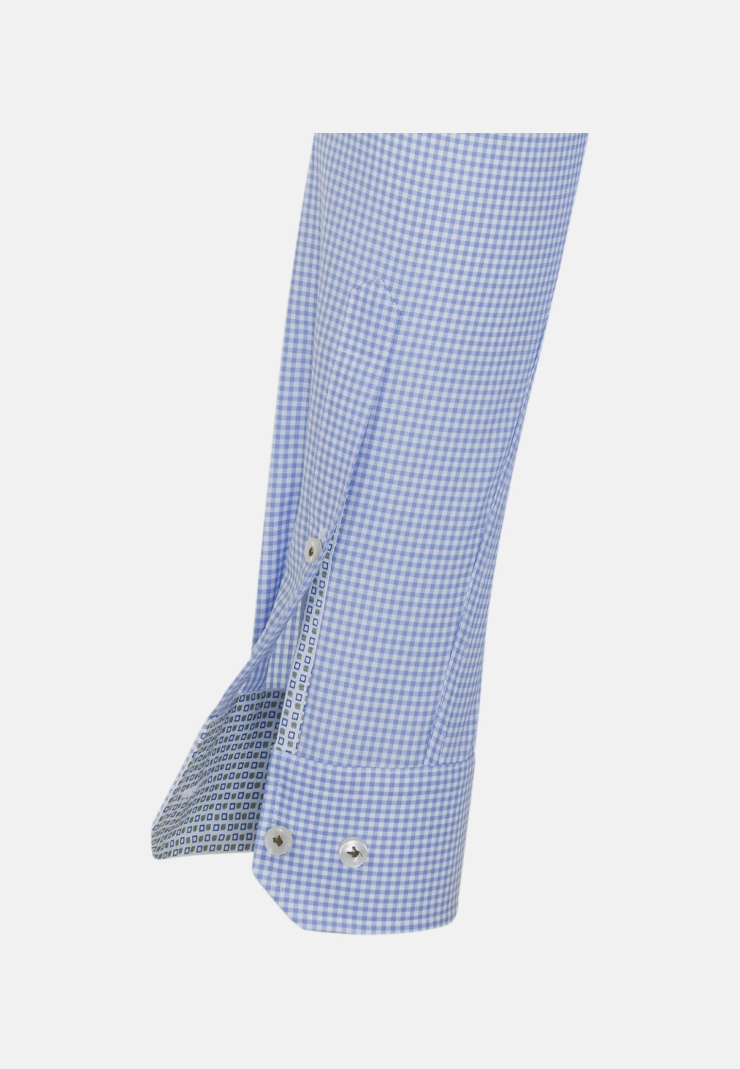 Twill Business Hemd in Slim Fit mit Button-Down-Kragen in Hellblau |  Jacques Britt Onlineshop