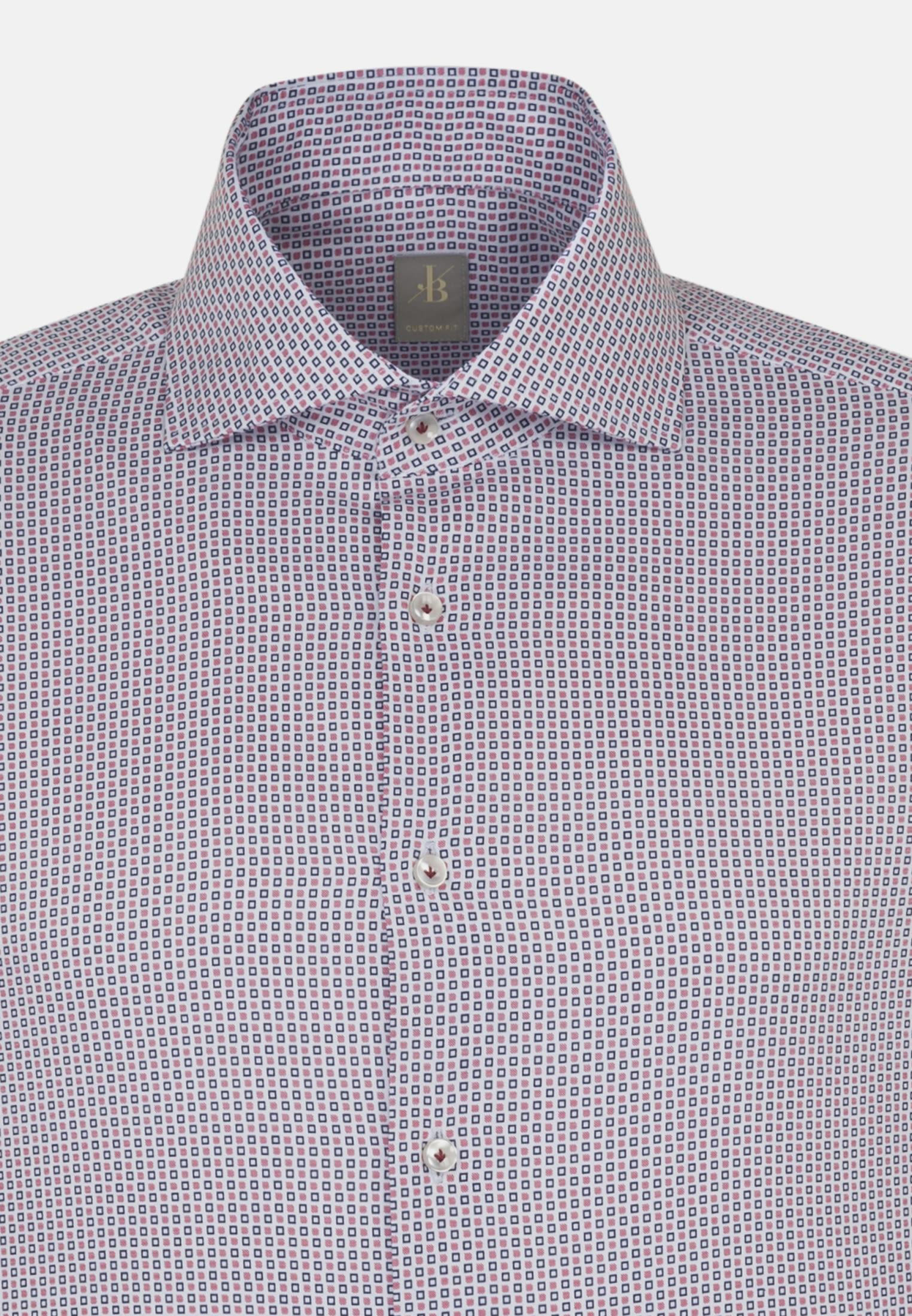 Twill Business Hemd in Custom Fit mit Haifischkragen in Rot |  Jacques Britt Onlineshop