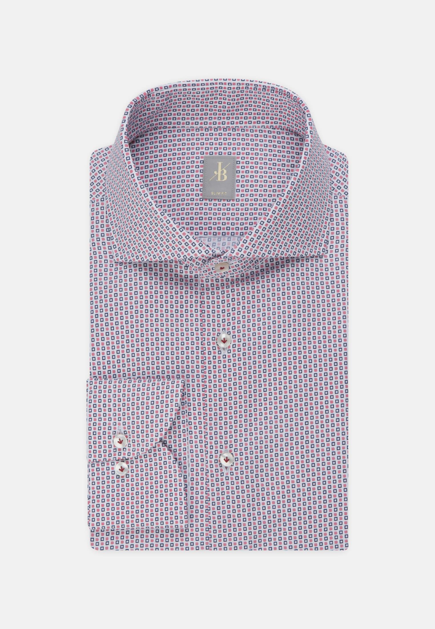 Twill Business Hemd in Slim Fit mit Haifischkragen in Rot |  Jacques Britt Onlineshop