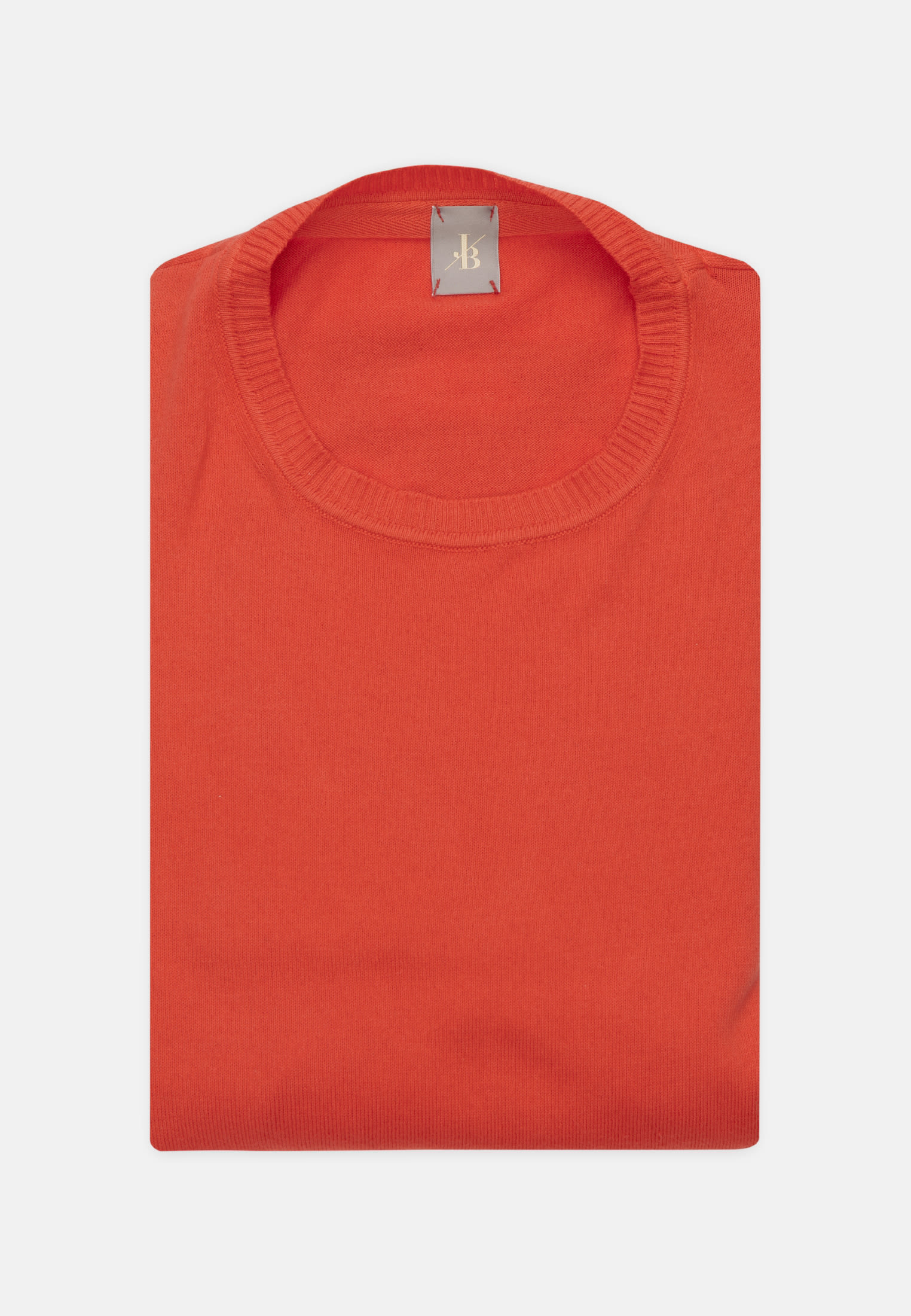 Rundhals Pullover aus 100% Baumwolle in Orange |  Jacques Britt Onlineshop