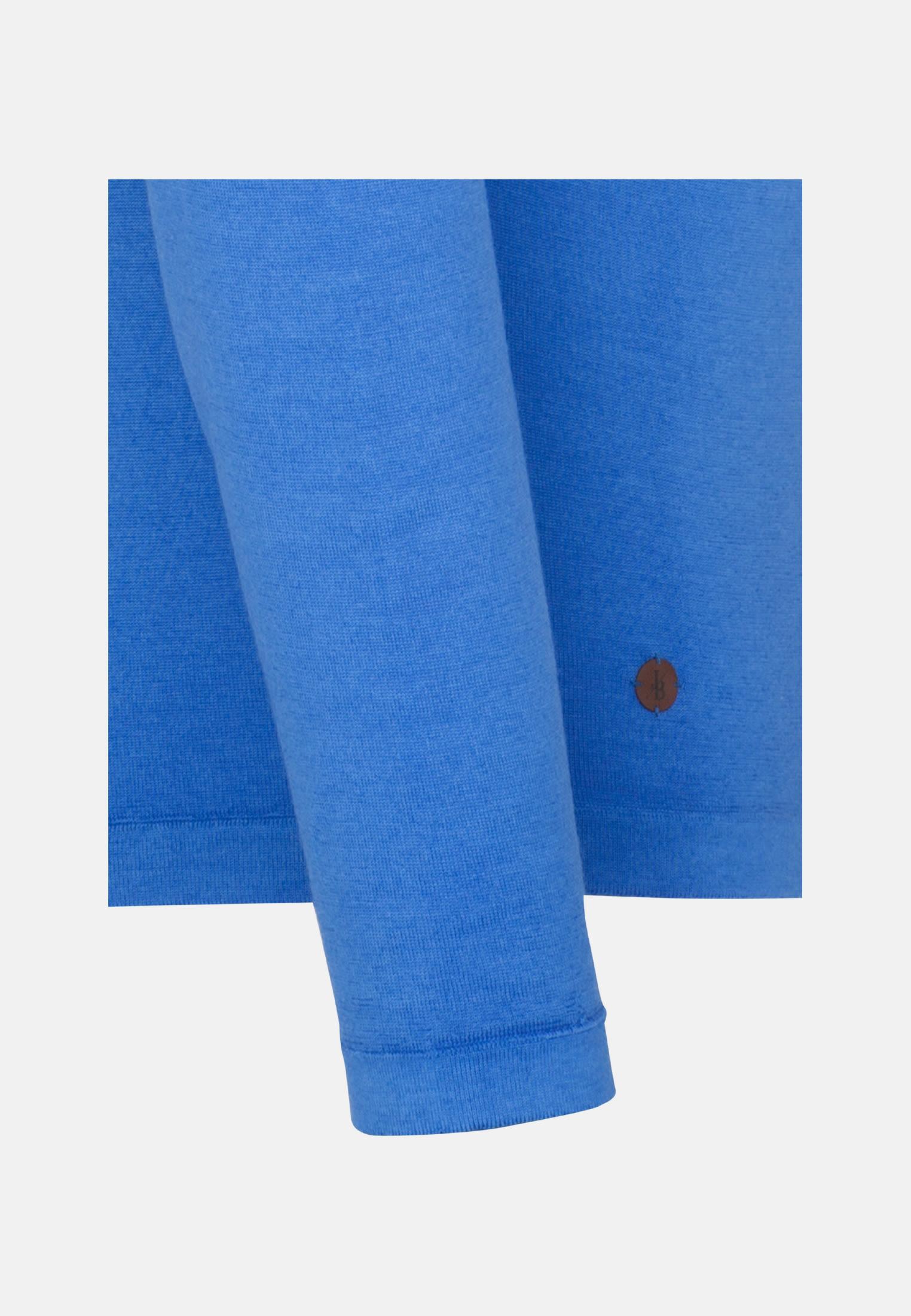 Rundhals Pullover aus 100% Merinowolle in Hellblau |  Jacques Britt Onlineshop