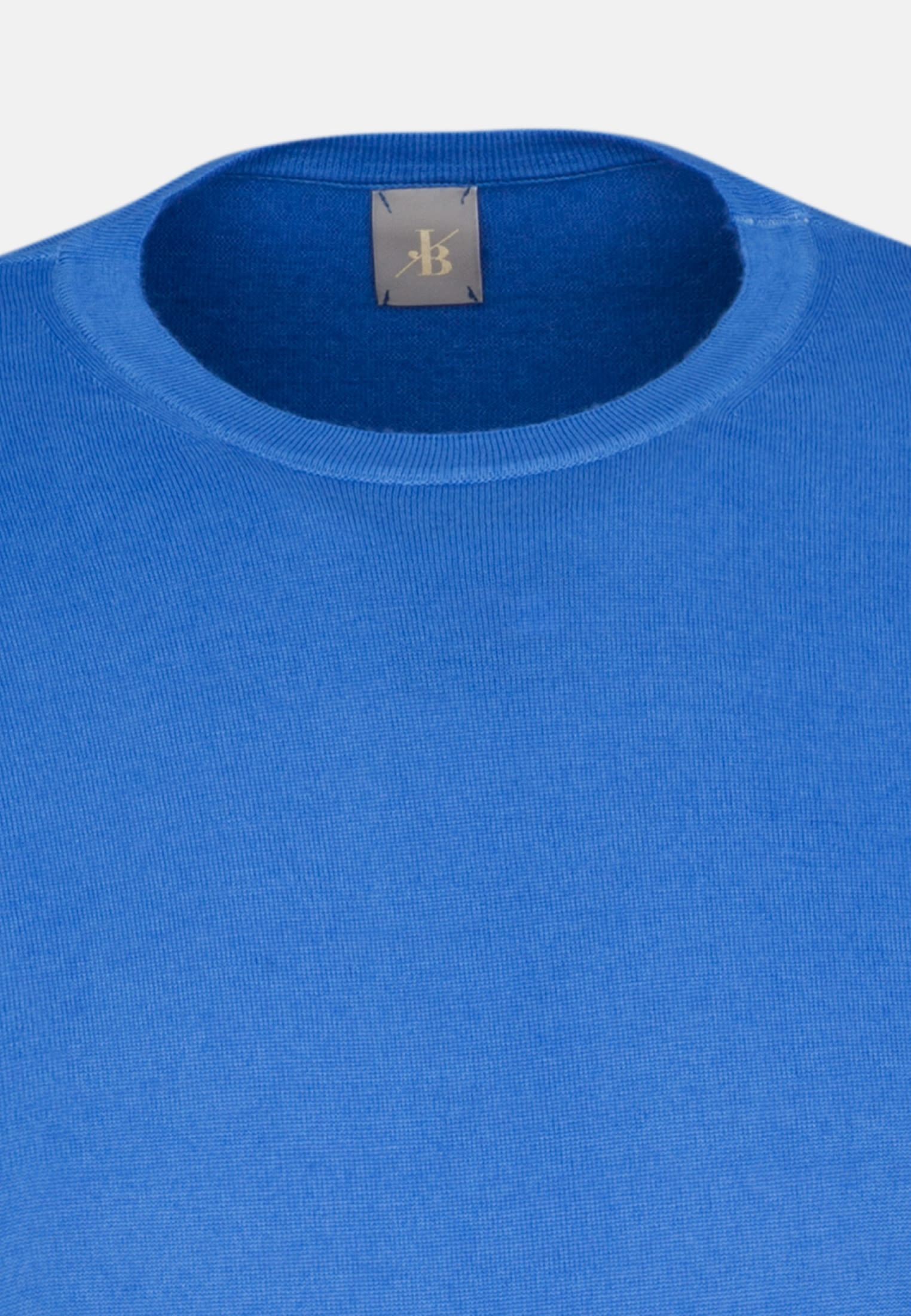 Rundhals Pullover aus 100% Merino-Wolle in Hellblau |  Jacques Britt Onlineshop