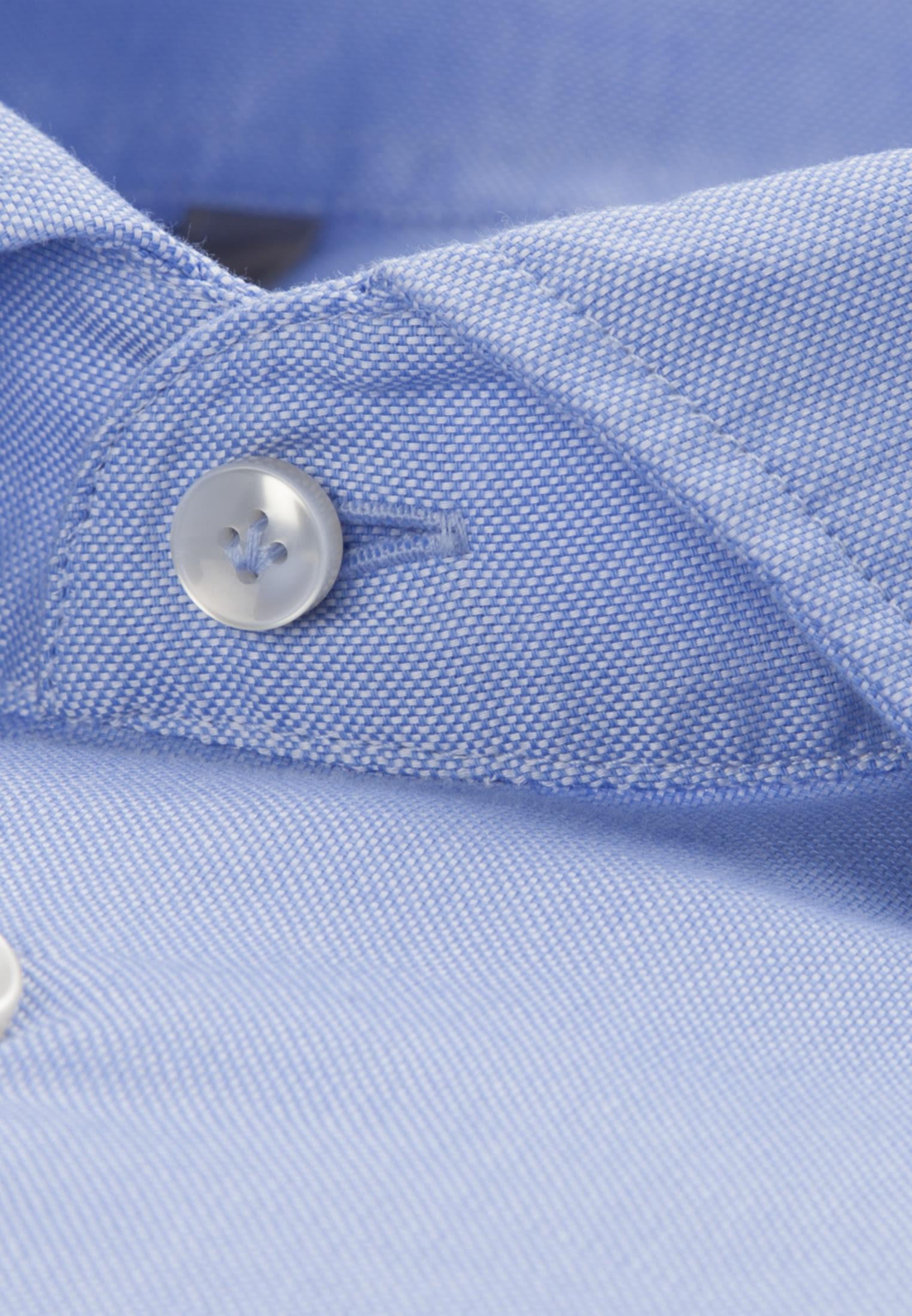 Oxford Smart Casual Hemd in Perfect Fit mit Haifischkragen in Hellblau |  Jacques Britt Onlineshop