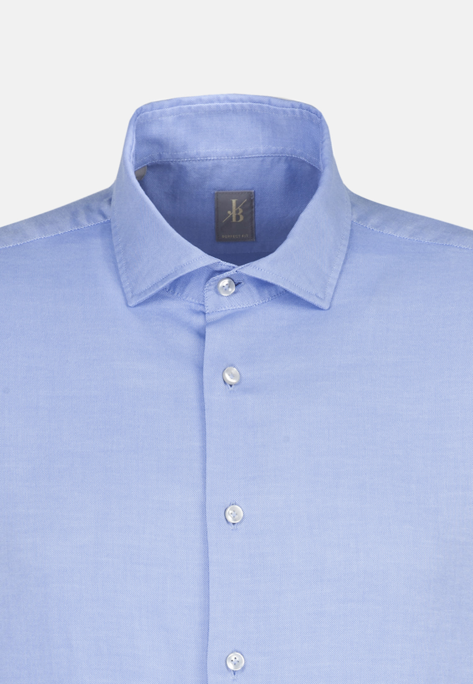 Oxford Smart Casual Hemd in Perfect Fit mit Haifischkragen in Hellblau |  Jacques Britt Onlineshop