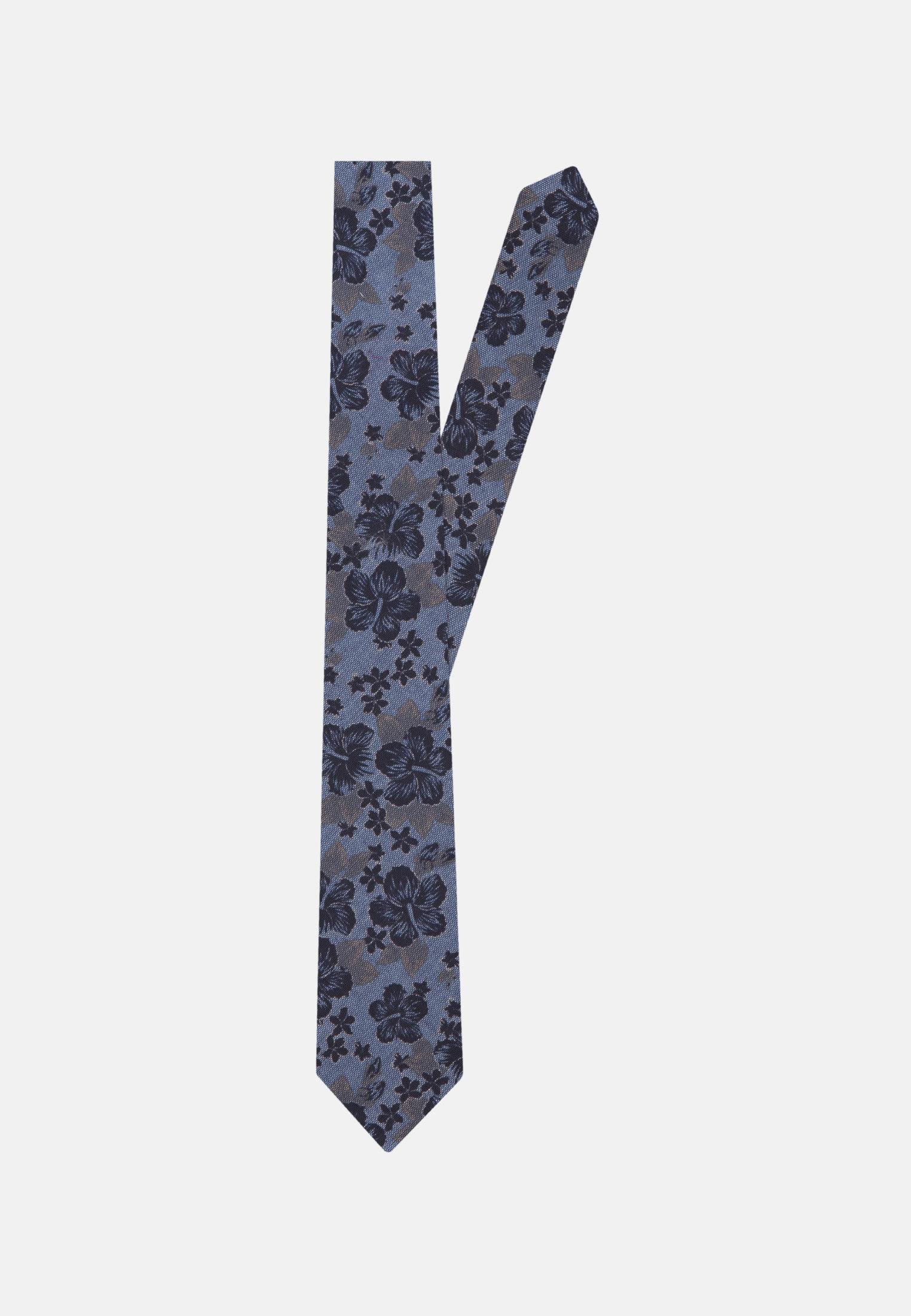 Krawatte aus 100% Baumwolle 7 cm Breit in Mittelblau |  Jacques Britt Onlineshop