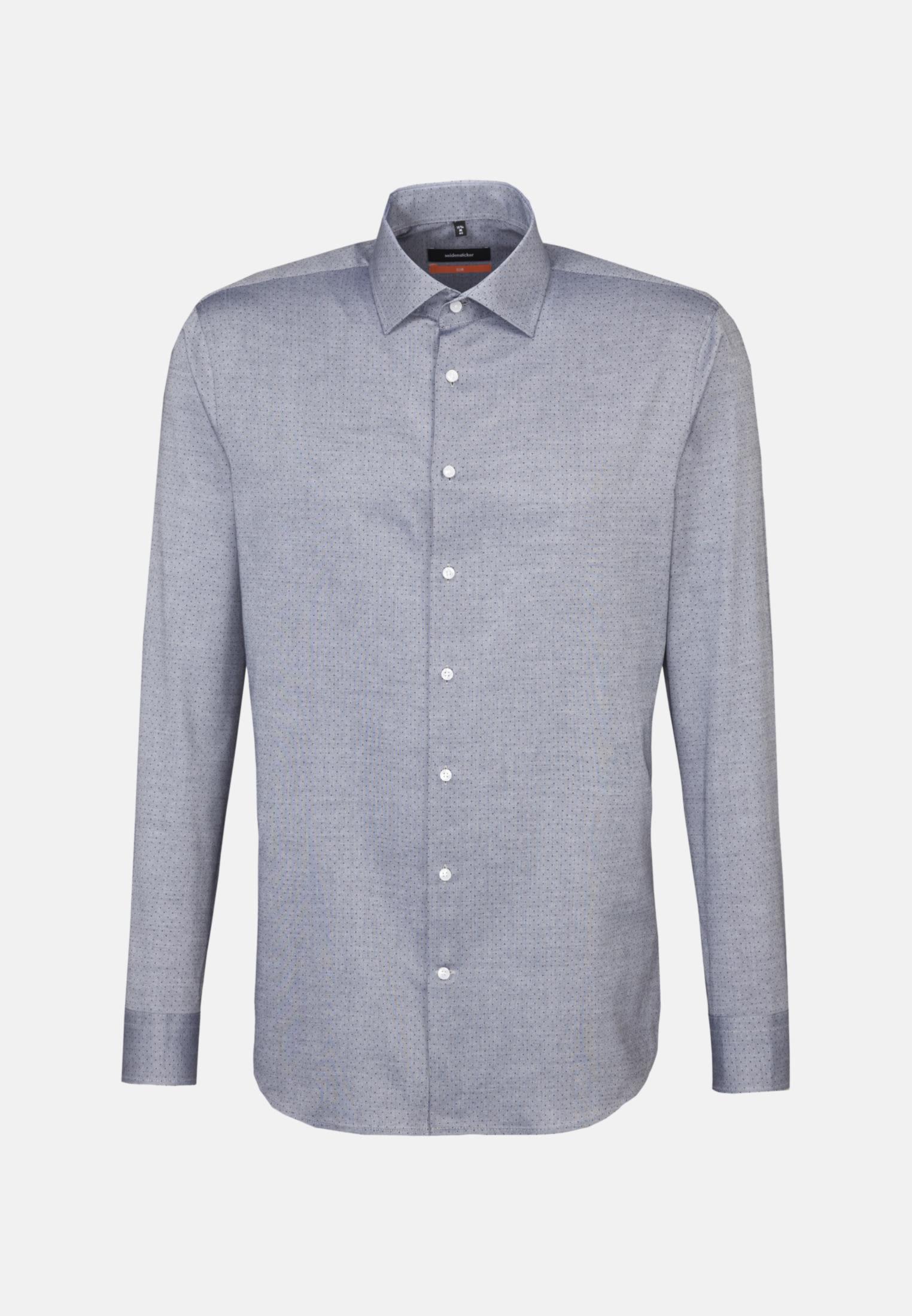 Bügelleichtes Oxford Business Hemd in Slim mit Kentkragen in Grau |  Seidensticker Onlineshop