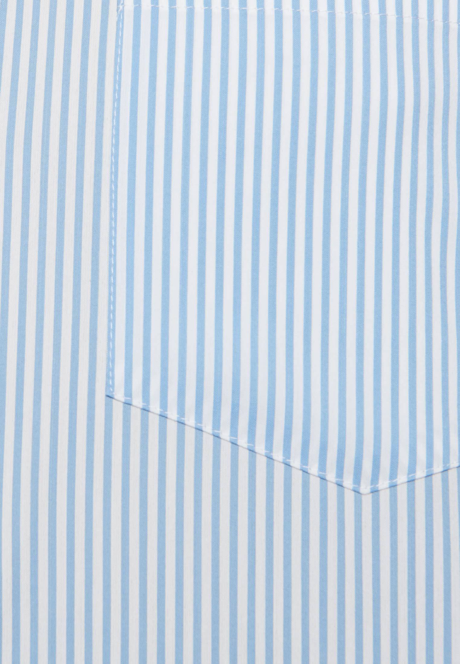Popeline Hemdbluse aus 81% Baumwolle 16% Polyamid/Nylon 3% Elastan in Mittelblau |  Seidensticker Onlineshop