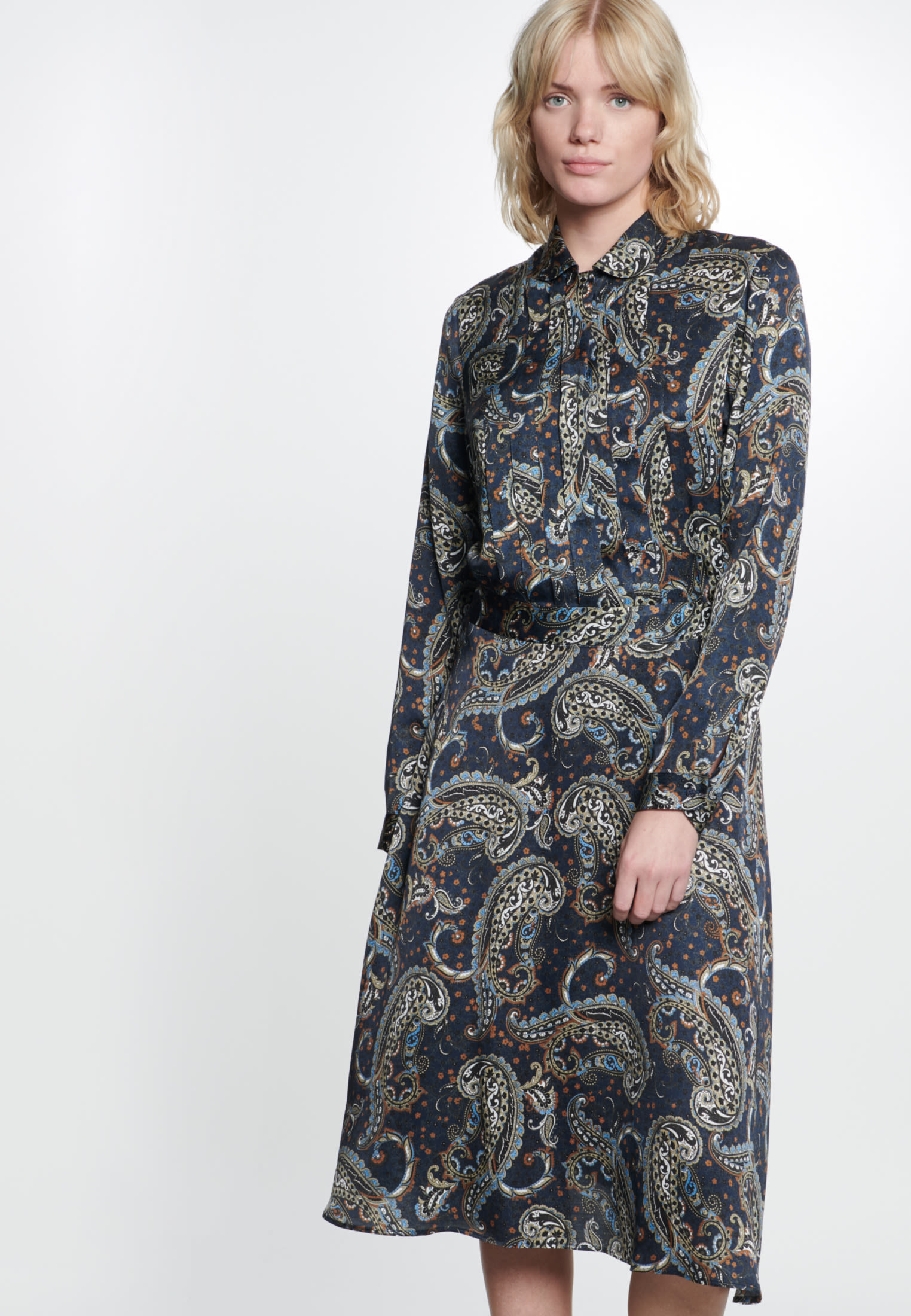 Voile Maxi Dress made of 100% Viskose in Dark blue |  Seidensticker Onlineshop