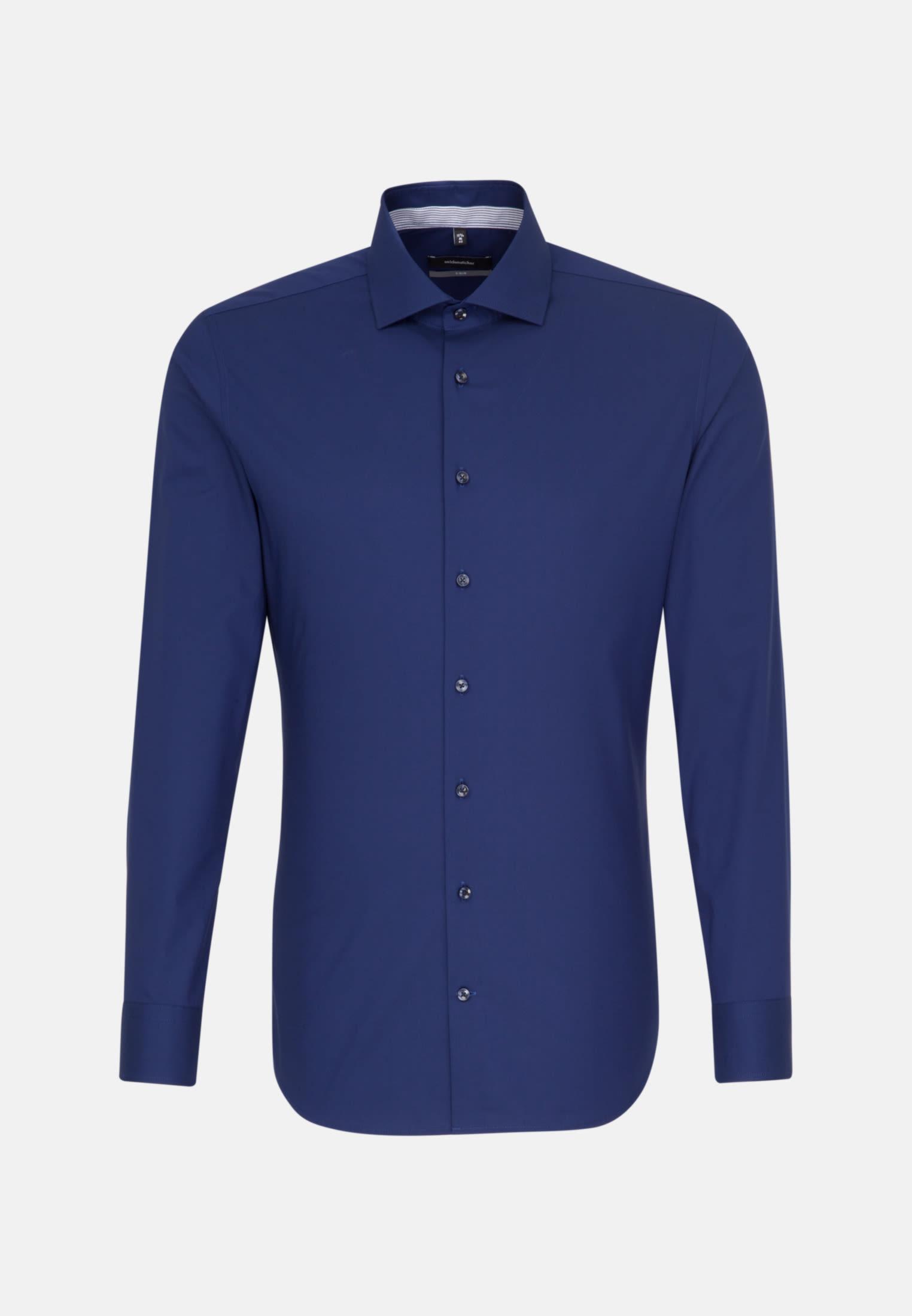 Non-iron Fil a fil Business Shirt in X-Slim with Kent-Collar in dunkelblau |  Seidensticker Onlineshop