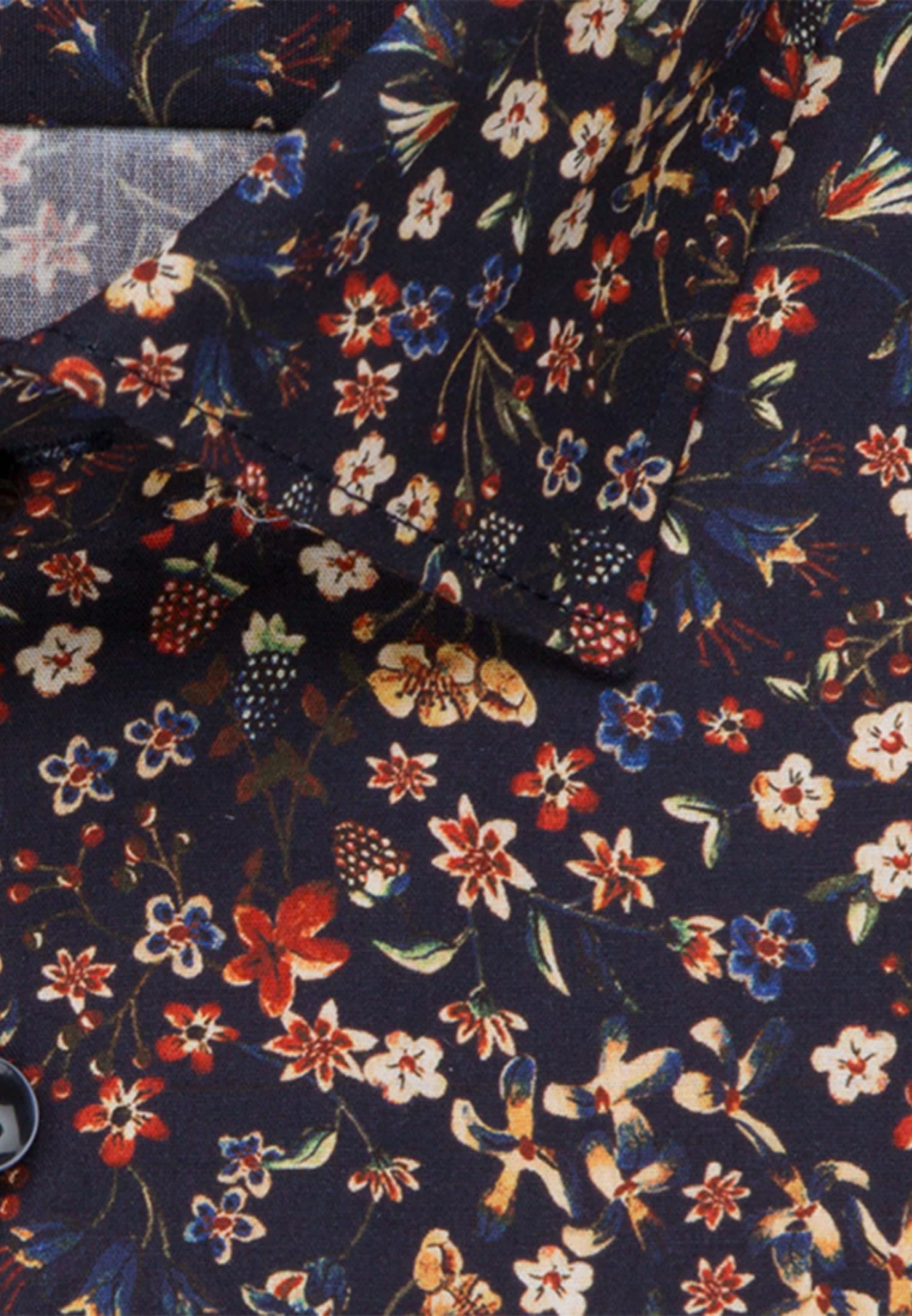Non-iron Poplin Business Shirt in Tailored with Kent-Collar in rot    Seidensticker Onlineshop