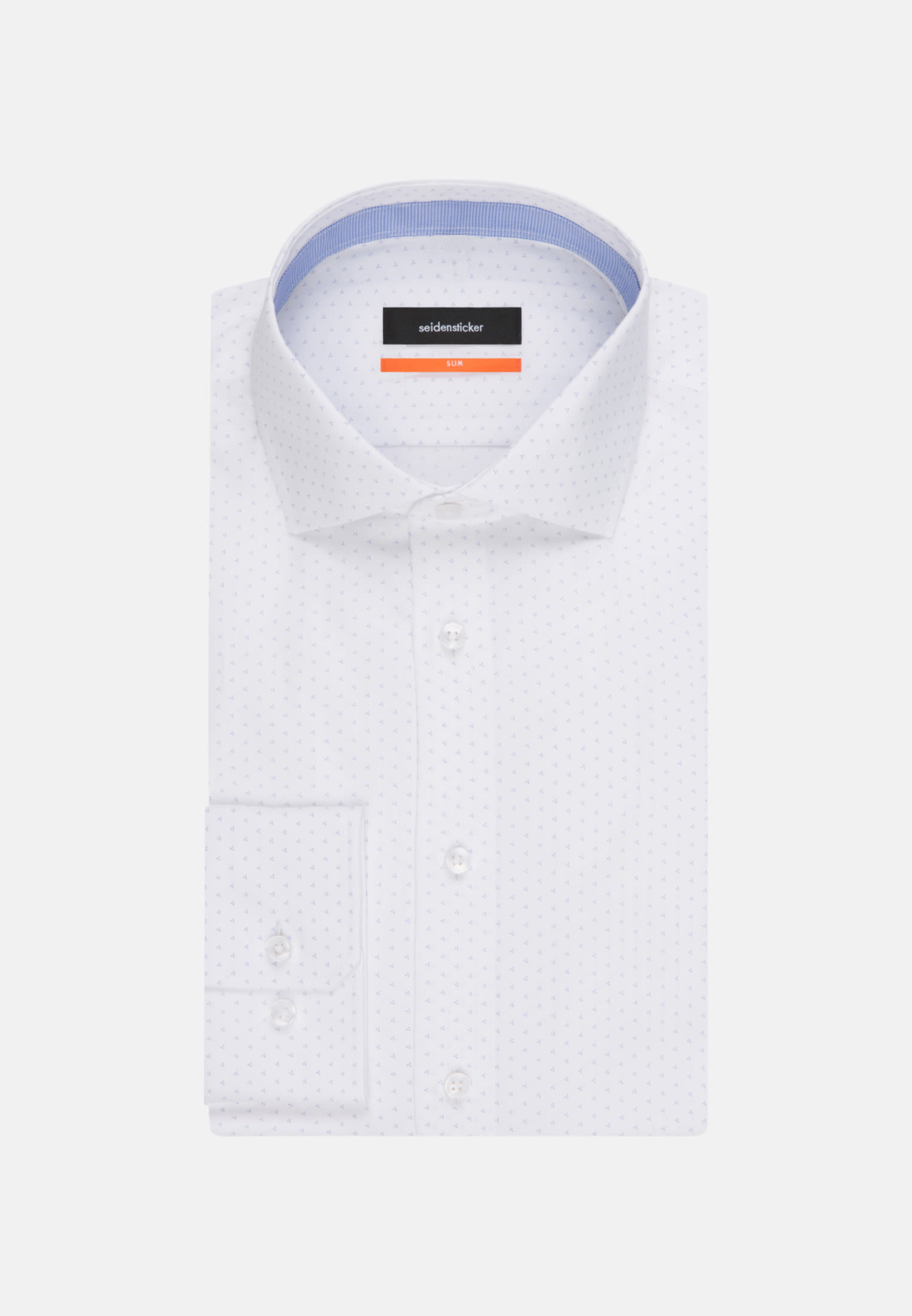 Easy-iron Poplin Business Shirt in Slim with Kent-Collar in hellblau |  Seidensticker Onlineshop