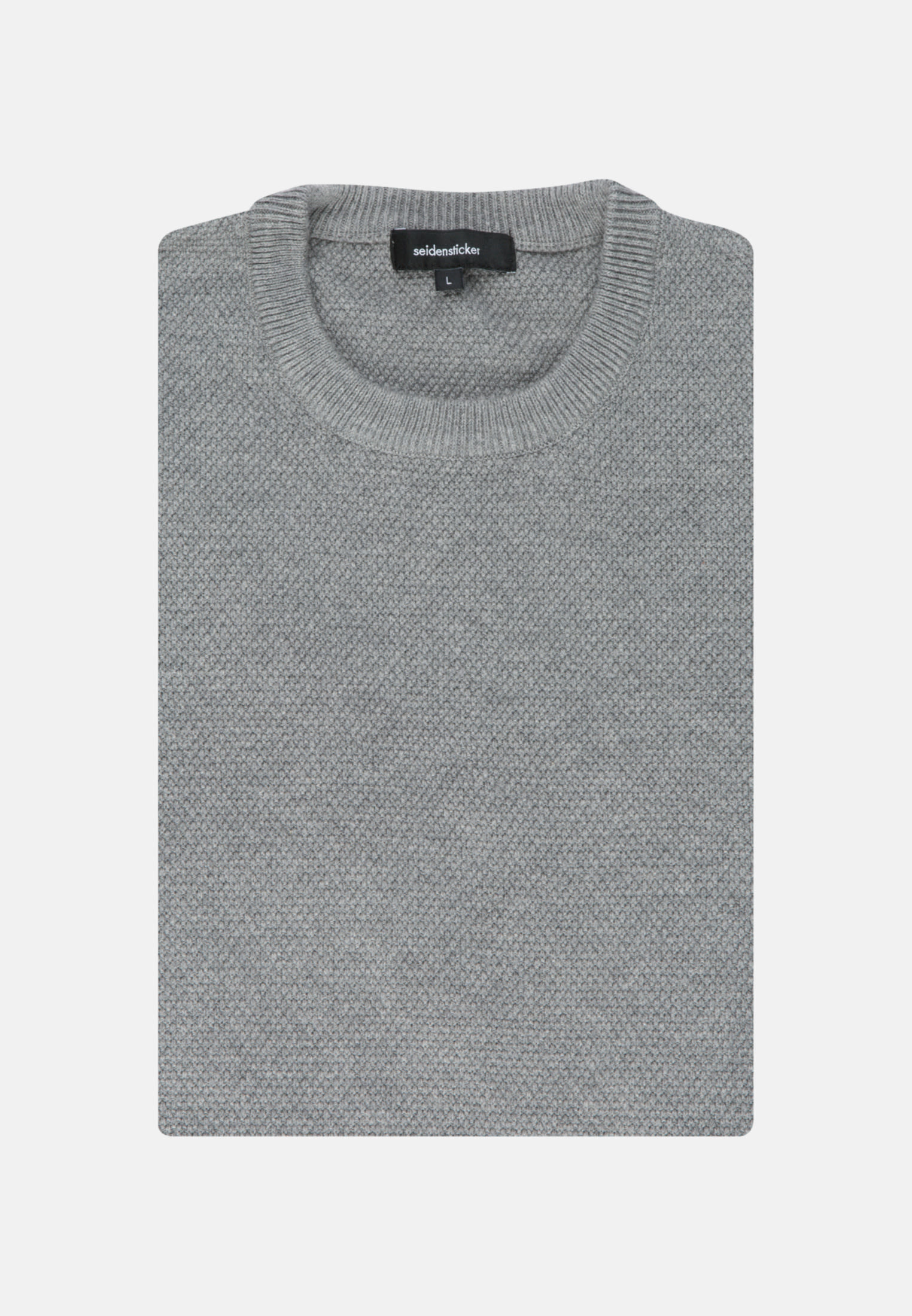 Crew Neck Pullover made of cotton blend in Grey |  Seidensticker Onlineshop