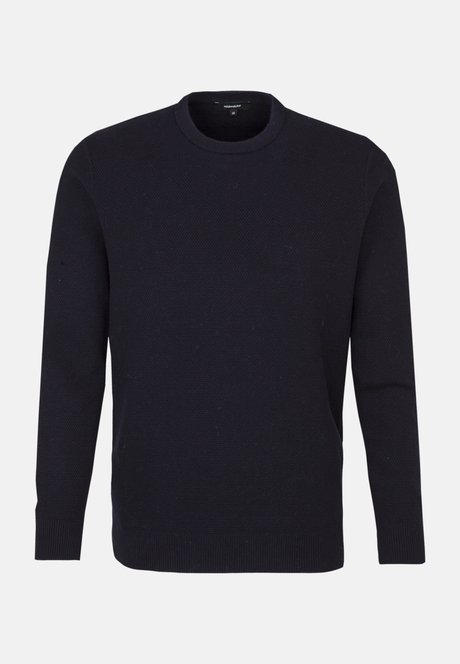 Crew Neck Pullover made of 47% Cotton 37% Polyacryl 16% Wolle in Dark blue |  Seidensticker Onlineshop