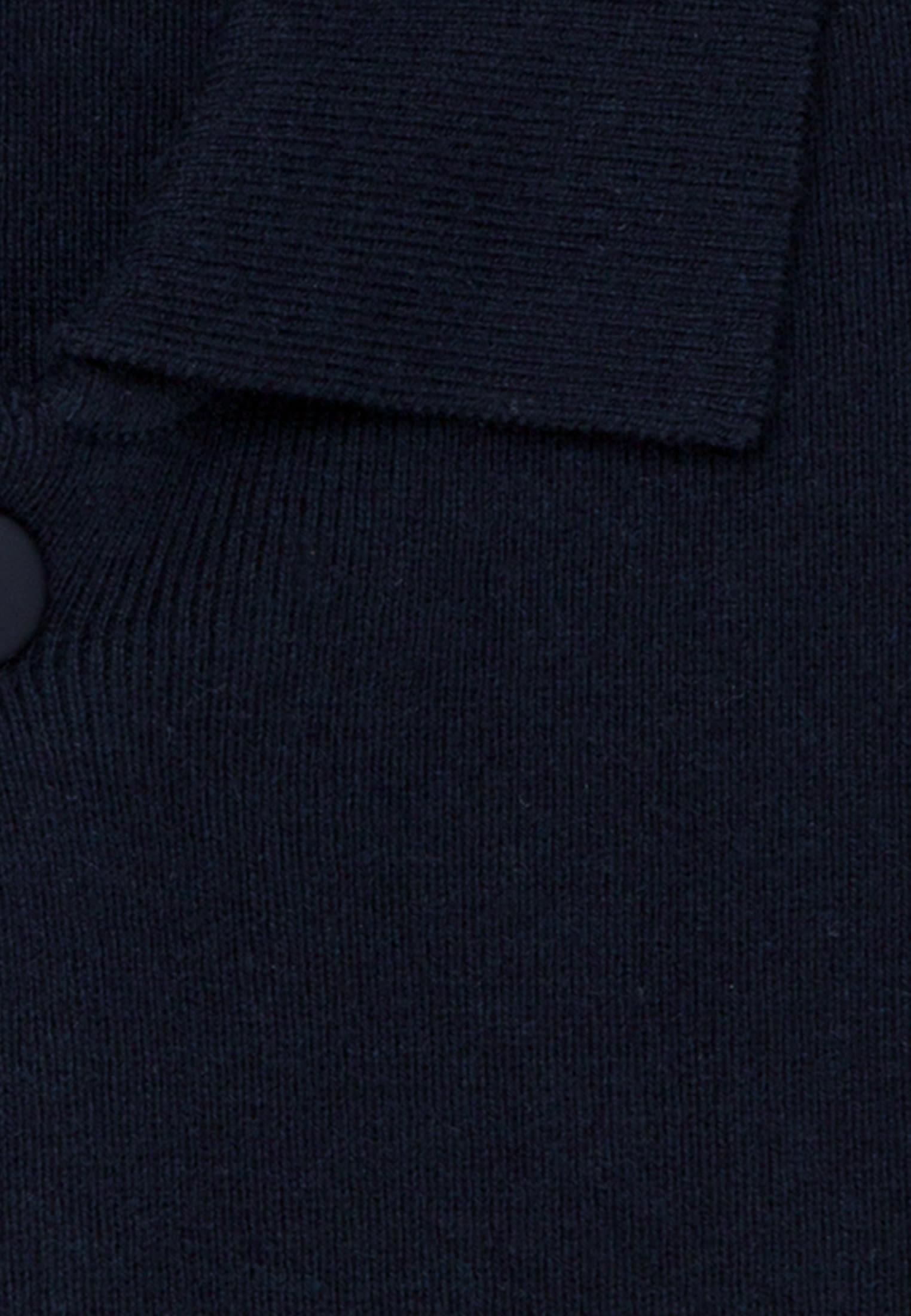 Kragen Cardigan aus 47% Baumwolle 37% Polyacryl 16% Wolle in Dunkelblau |  Seidensticker Onlineshop