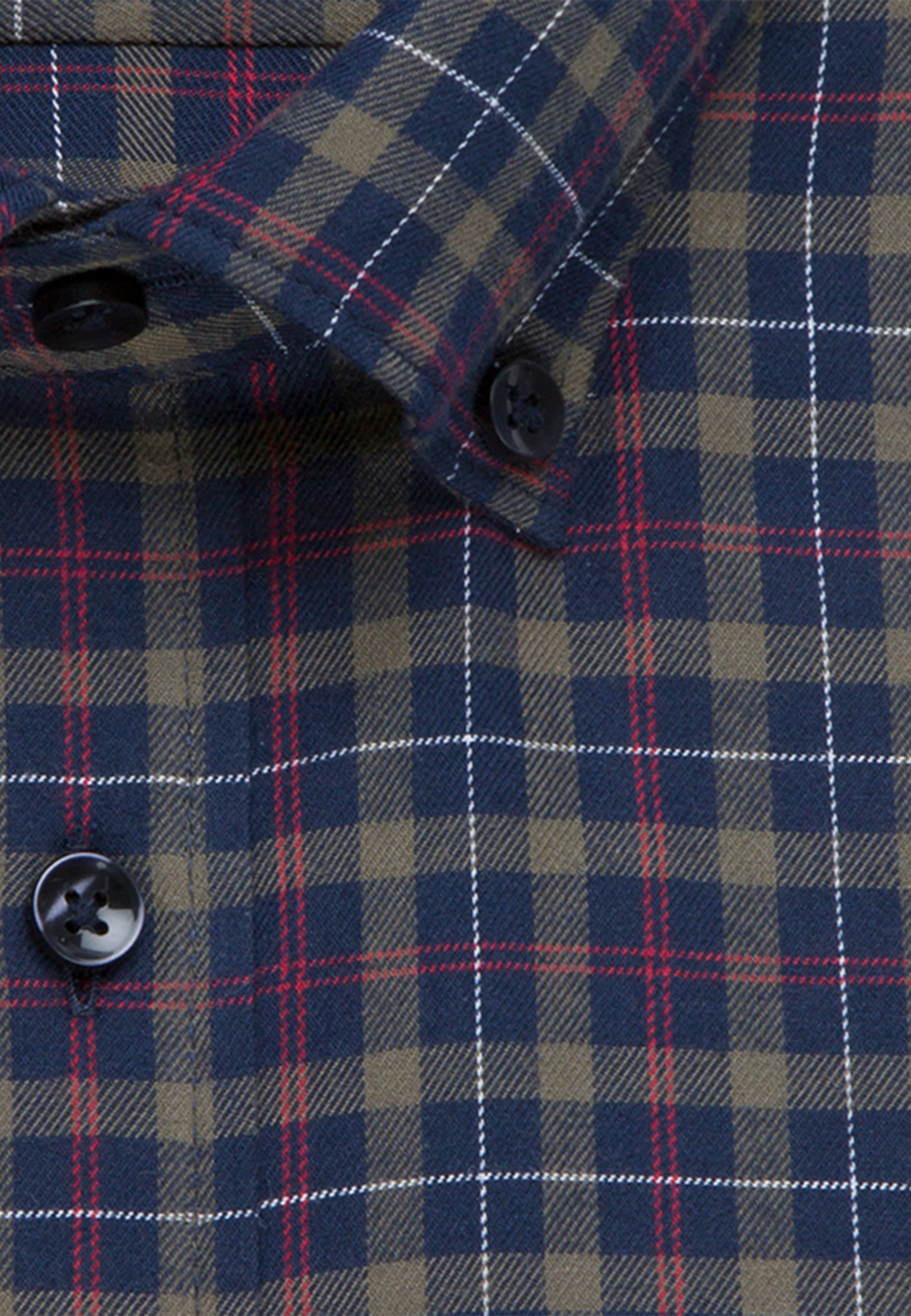 Bügelleichtes Twill Business Hemd in Slim mit Button-Down-Kragen in Grün |  Seidensticker Onlineshop