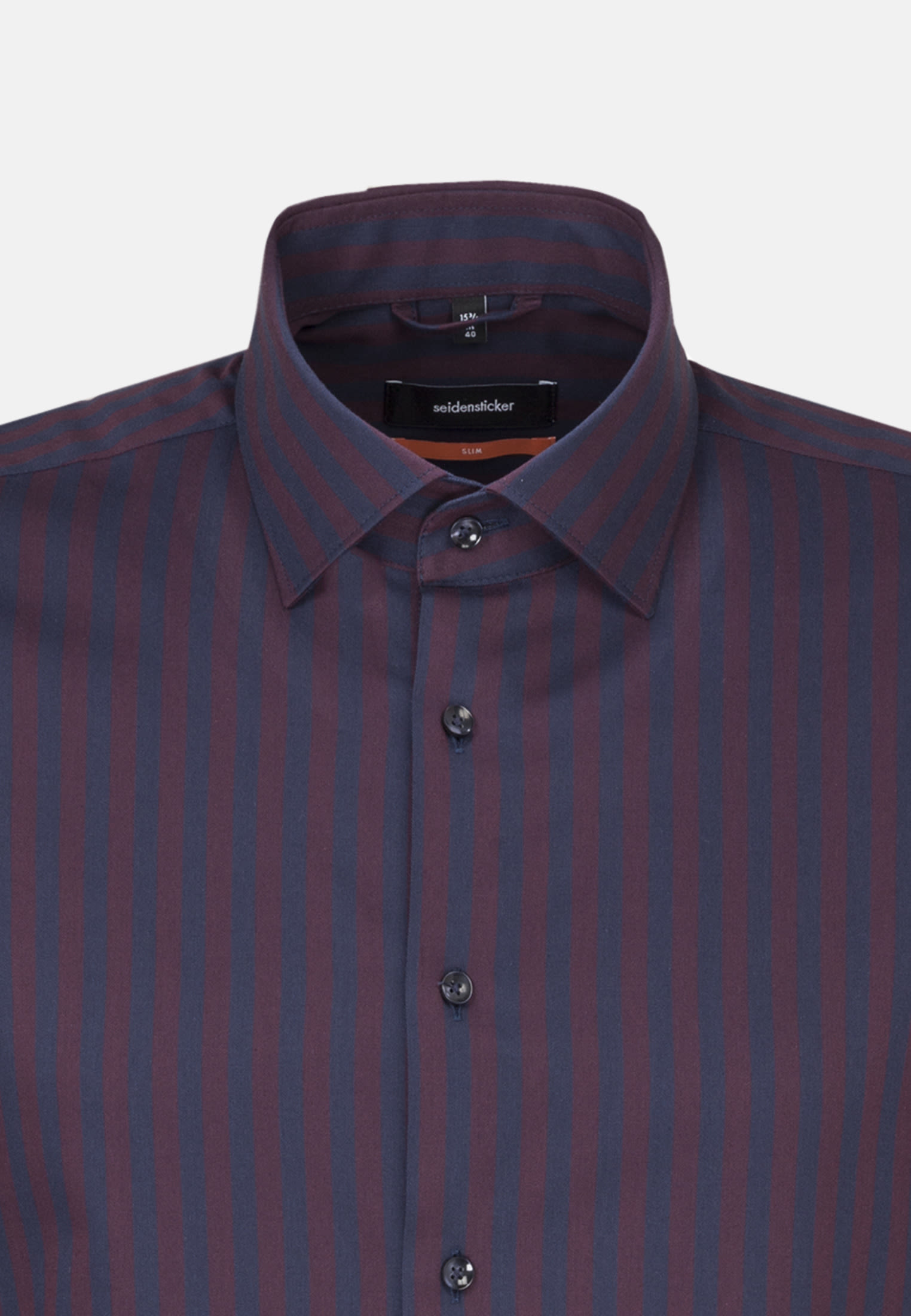 Easy-iron Twill Business Shirt in Slim with Kent-Collar in rot |  Seidensticker Onlineshop