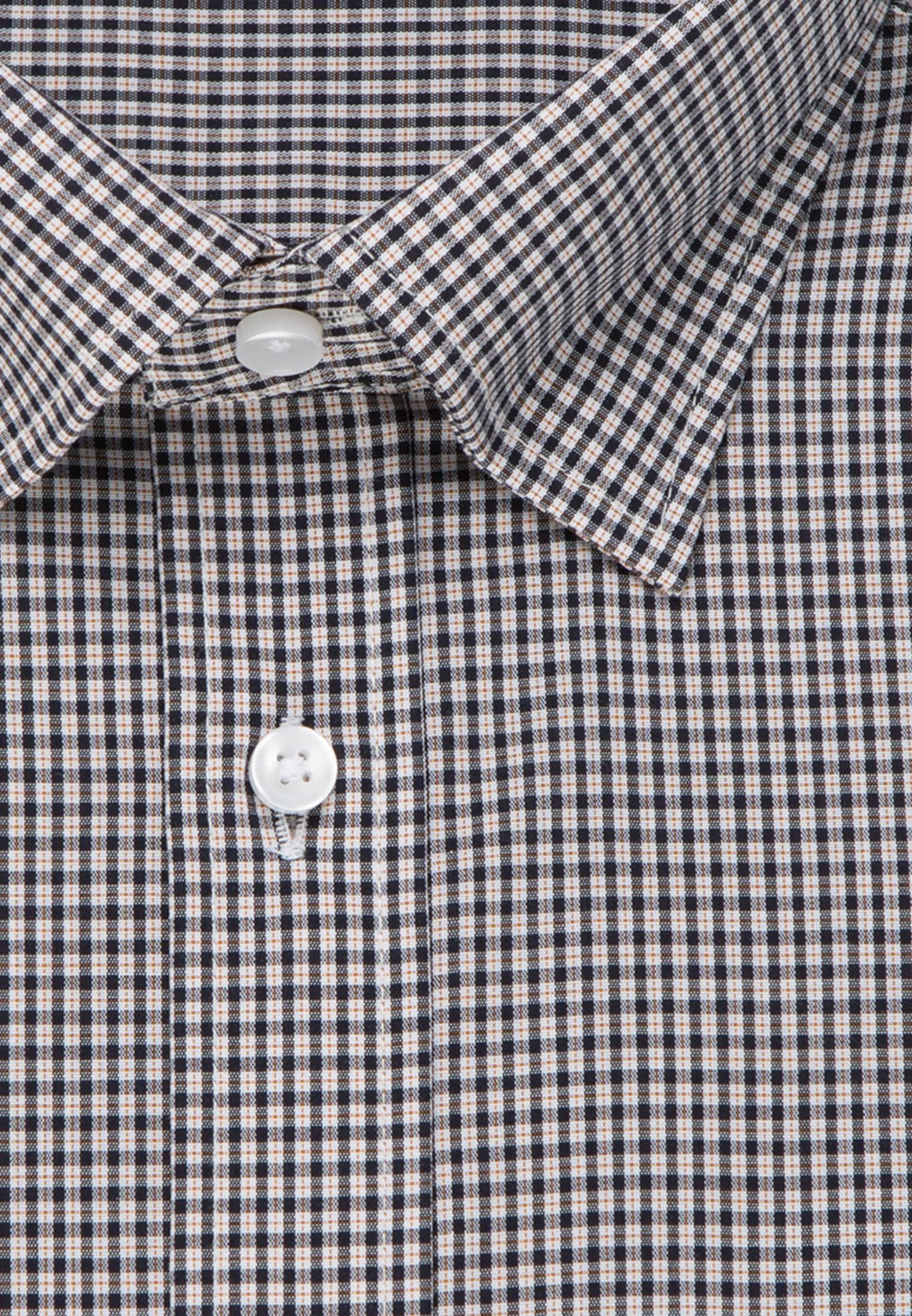 Bügelfreies Popeline Business Hemd in Regular mit Covered-Button-Down-Kragen in Orange |  Seidensticker Onlineshop
