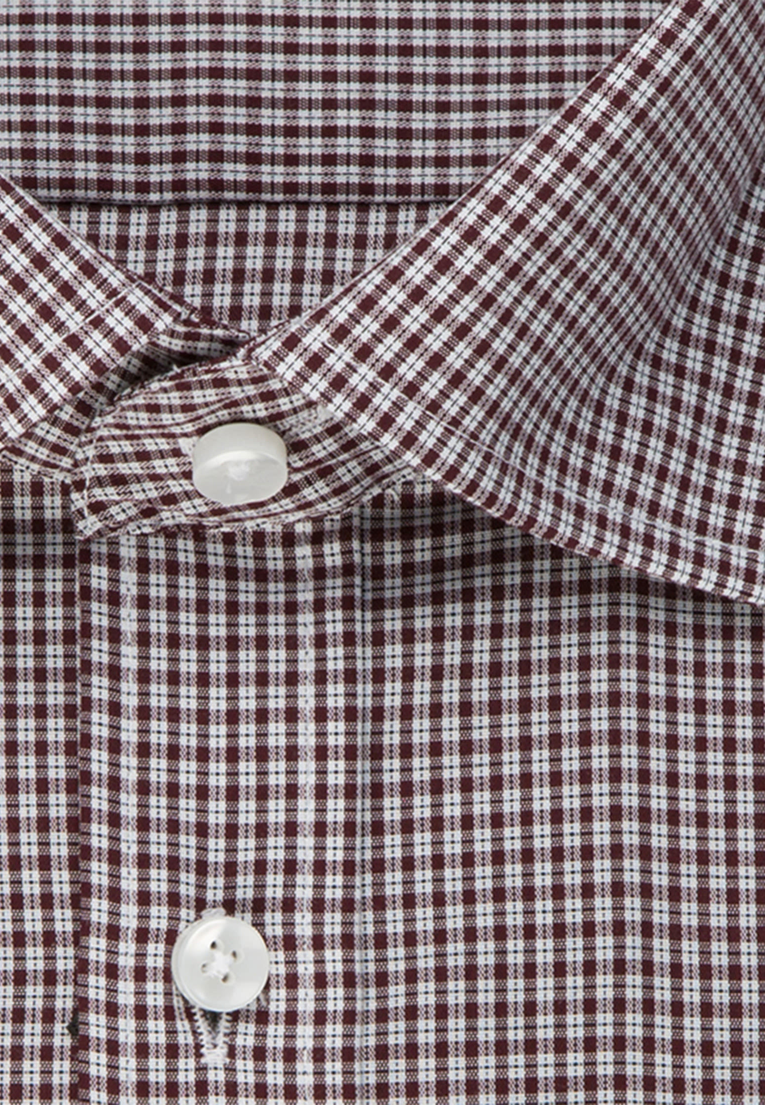 Bügelfreies Popeline Business Hemd in Regular mit Covered-Button-Down-Kragen in Rot |  Seidensticker Onlineshop