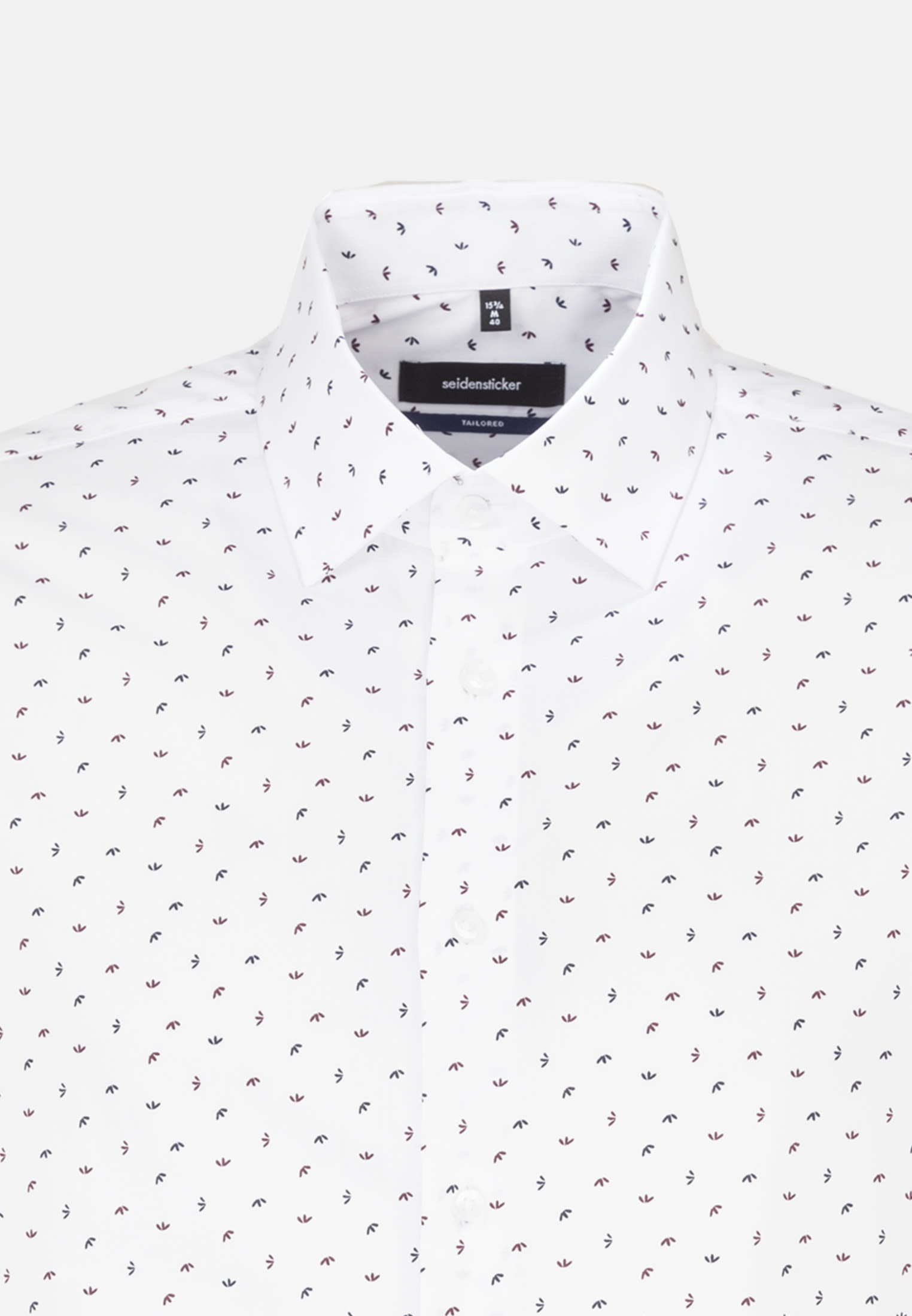 Easy-iron Poplin Business Shirt in Tailored with Kent-Collar in rot |  Seidensticker Onlineshop