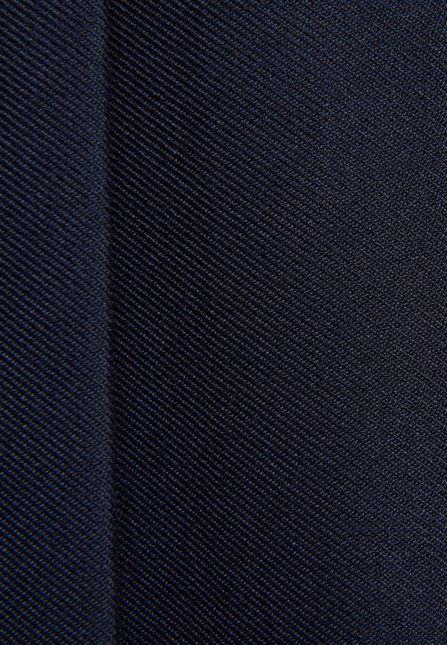 Twill Midi Rock aus 69% Polyester 30% Viskose 1% Elastan in Dunkelblau |  Seidensticker Onlineshop