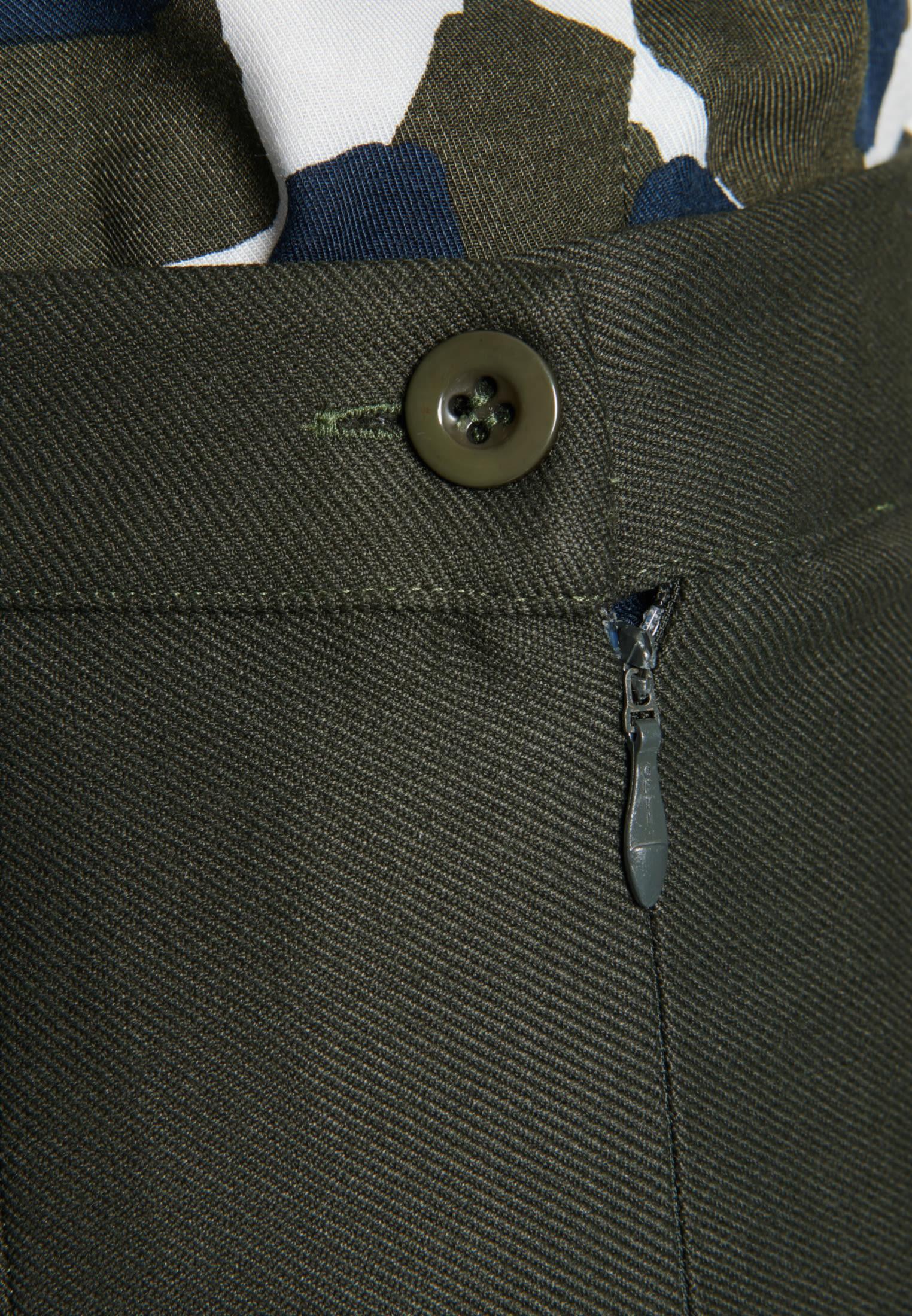 Twill Midi Skirt made of viscose blend in Green |  Seidensticker Onlineshop